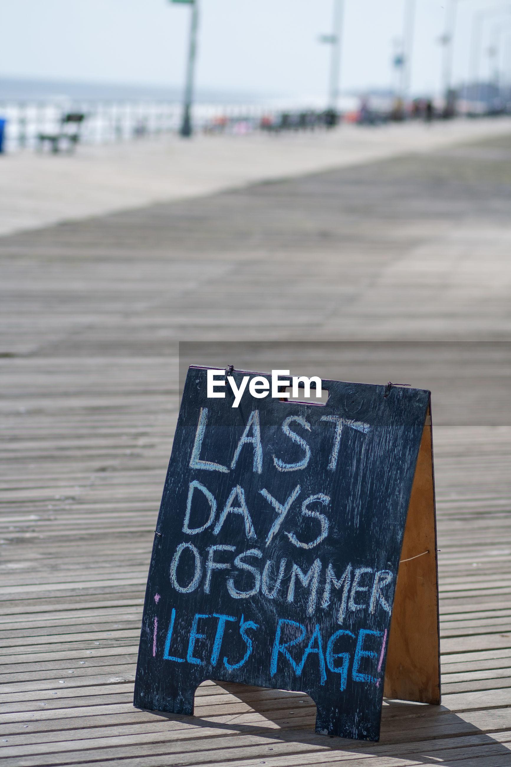 Information sign at promenade