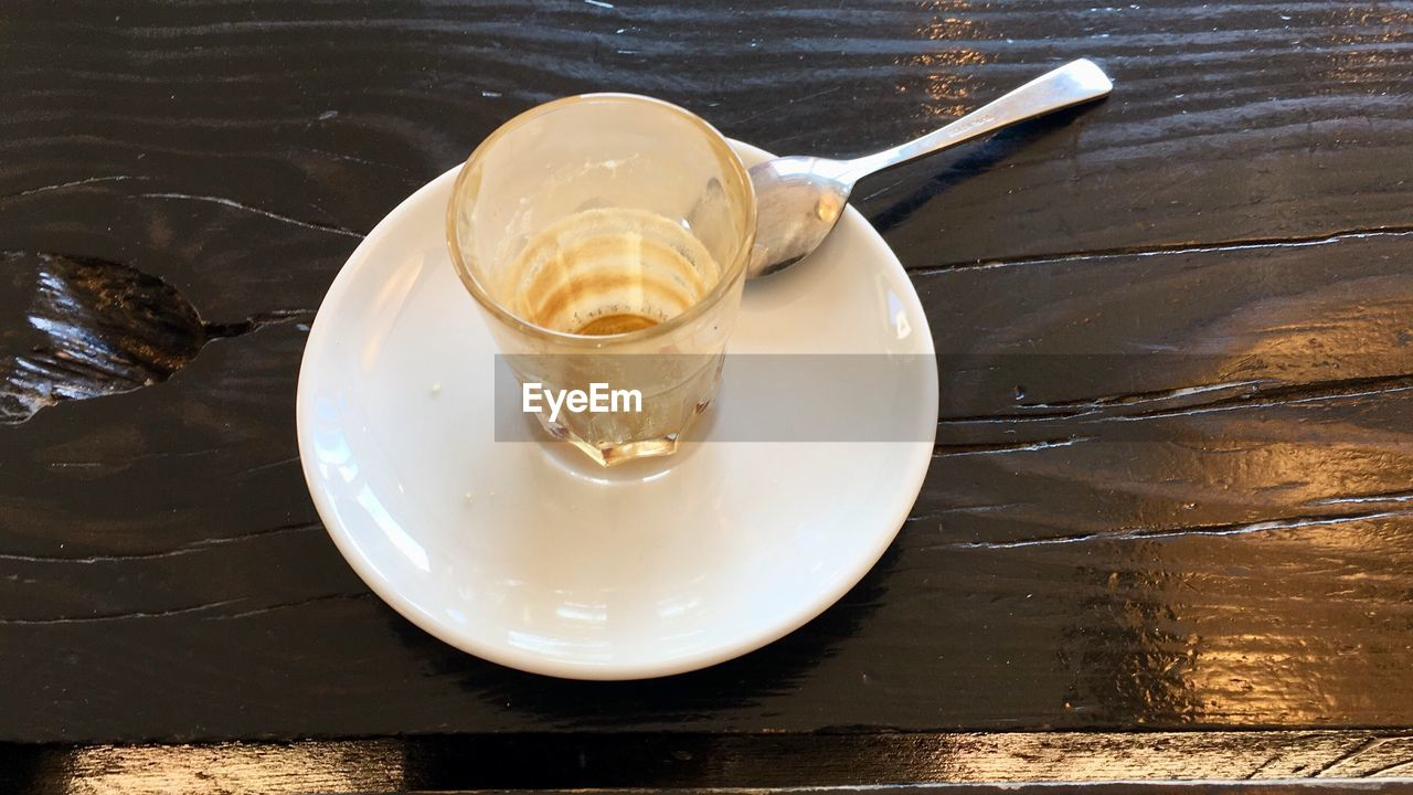 food and drink, table, high angle view, no people, indoors, drink, food, plate, freshness, close-up, healthy eating, day, frothy drink, ready-to-eat