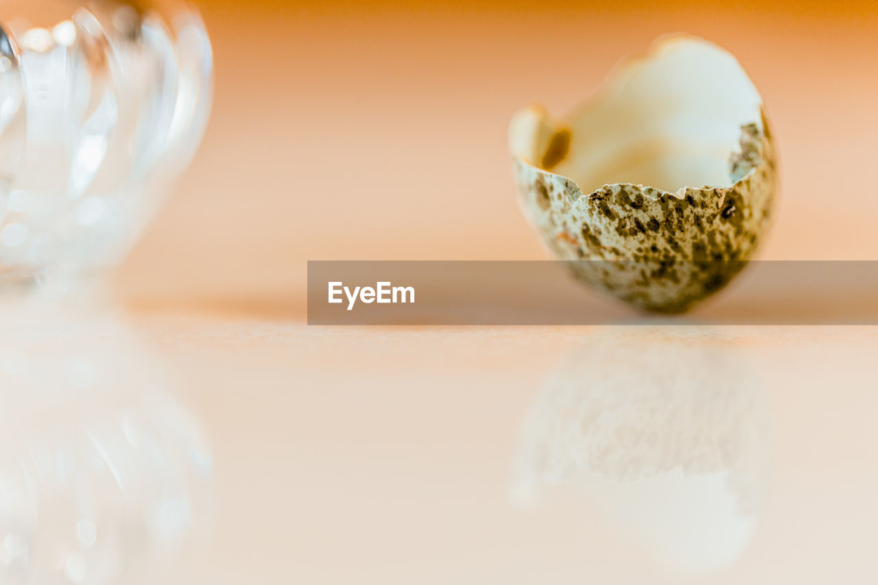 selective focus, still life, close-up, indoors, no people, table, food and drink, food, reflection, freshness, glass - material, healthy eating, studio shot, wellbeing, copy space, nature, white color, wood - material, single object, orange color