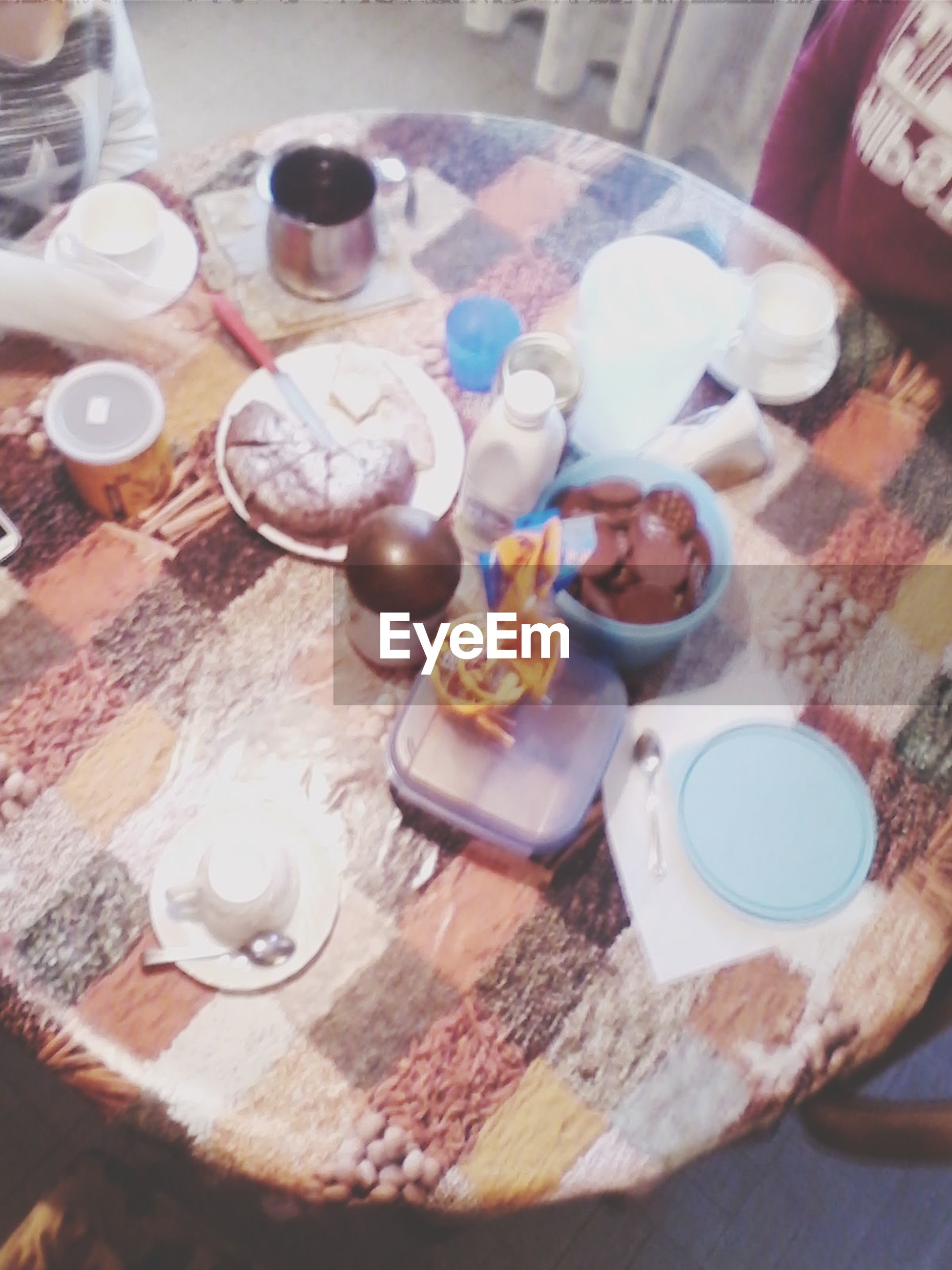 indoors, food and drink, table, drink, still life, freshness, refreshment, plate, food, drinking glass, high angle view, ready-to-eat, sweet food, coffee cup, spoon, indulgence, saucer, coffee - drink, cup, dessert