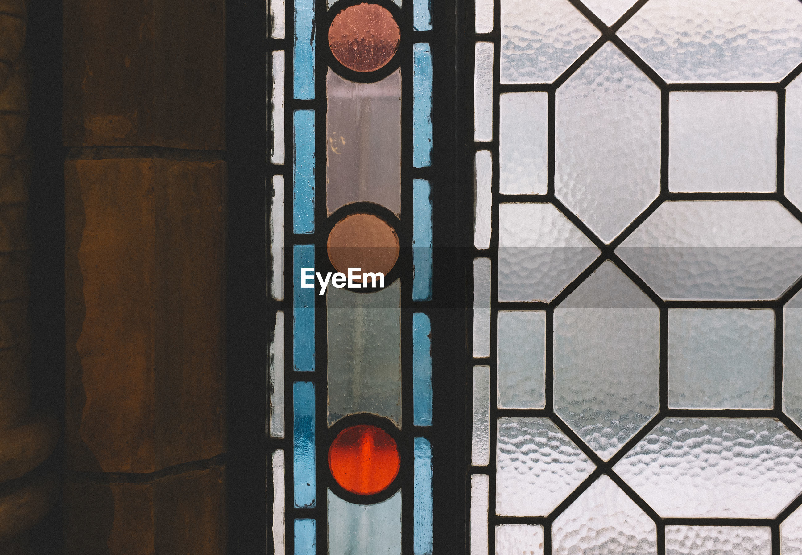 Close-up of stained glass