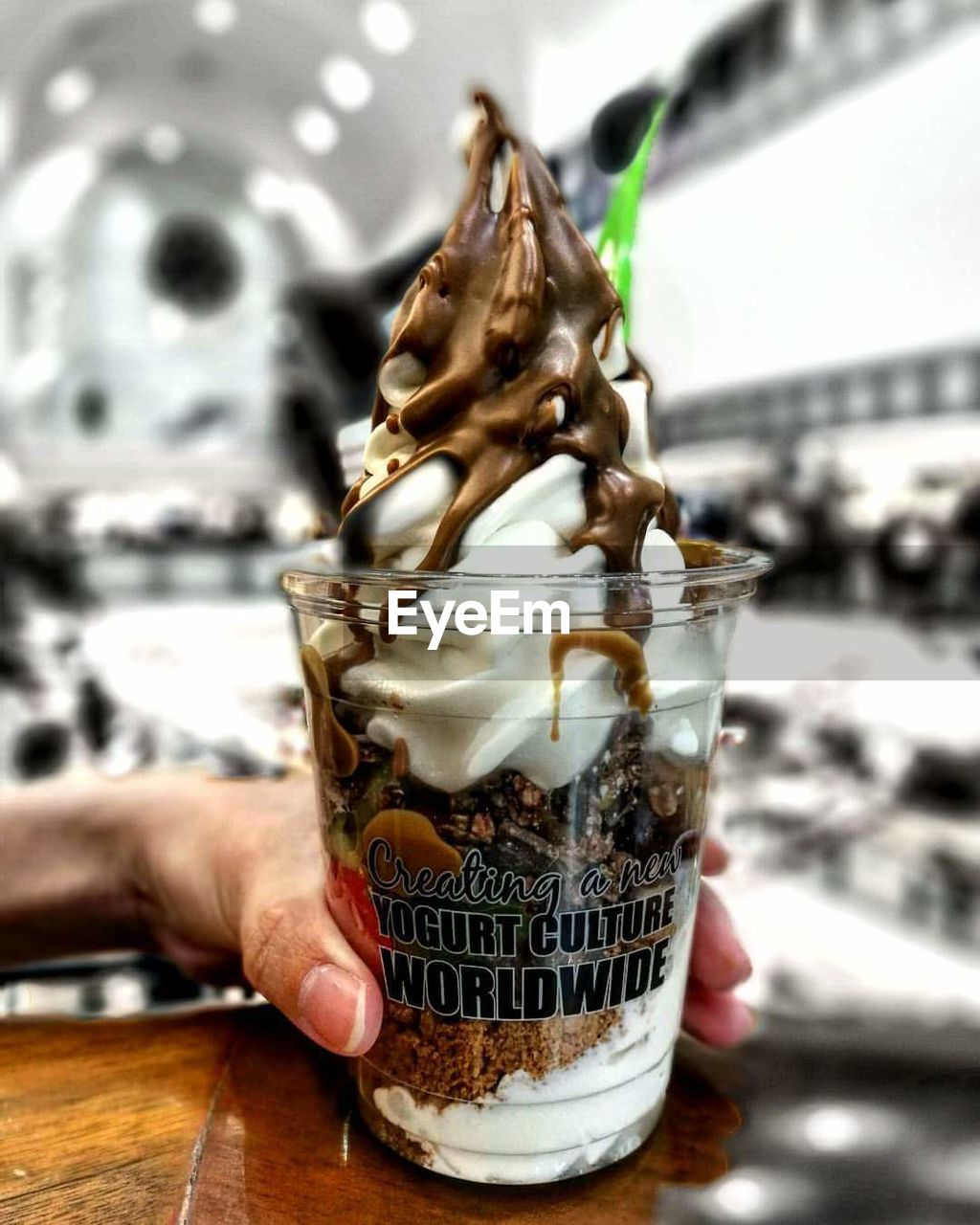 human hand, food and drink, human body part, real people, drink, focus on foreground, human finger, freshness, refreshment, one person, close-up, indoors, indulgence, food, drinking glass, day, people