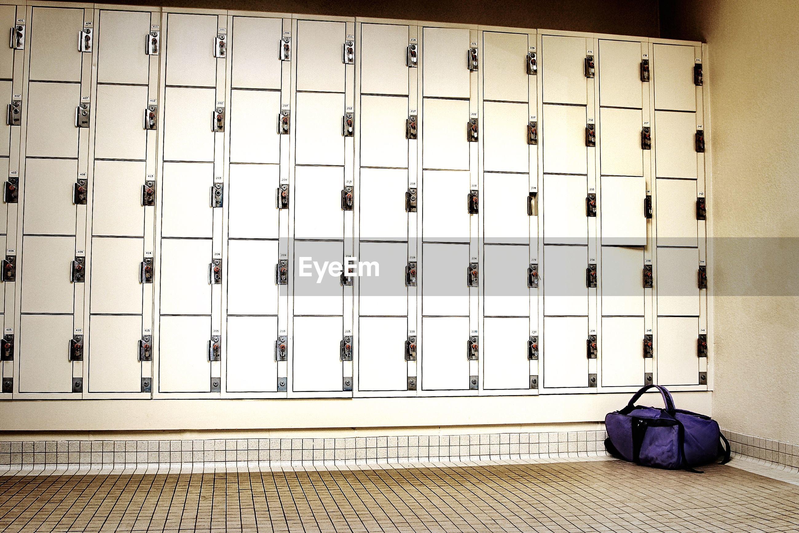 Bag in locker room