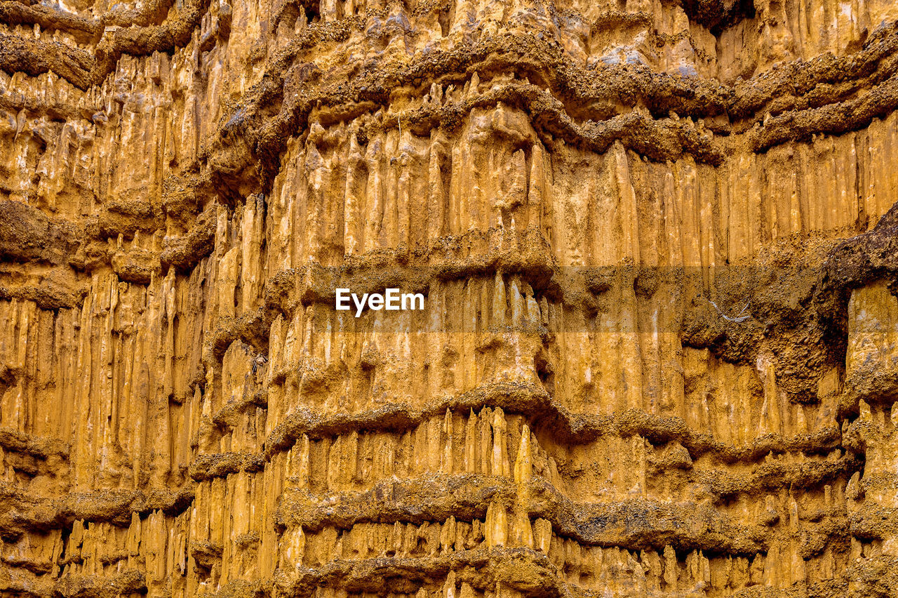 pattern, no people, nature, geology, full frame, backgrounds, rock, outdoors, rock - object, solid, rock formation, wood - material, day, brown, travel destinations, close-up, stalactite, physical geography, history, carving, eroded