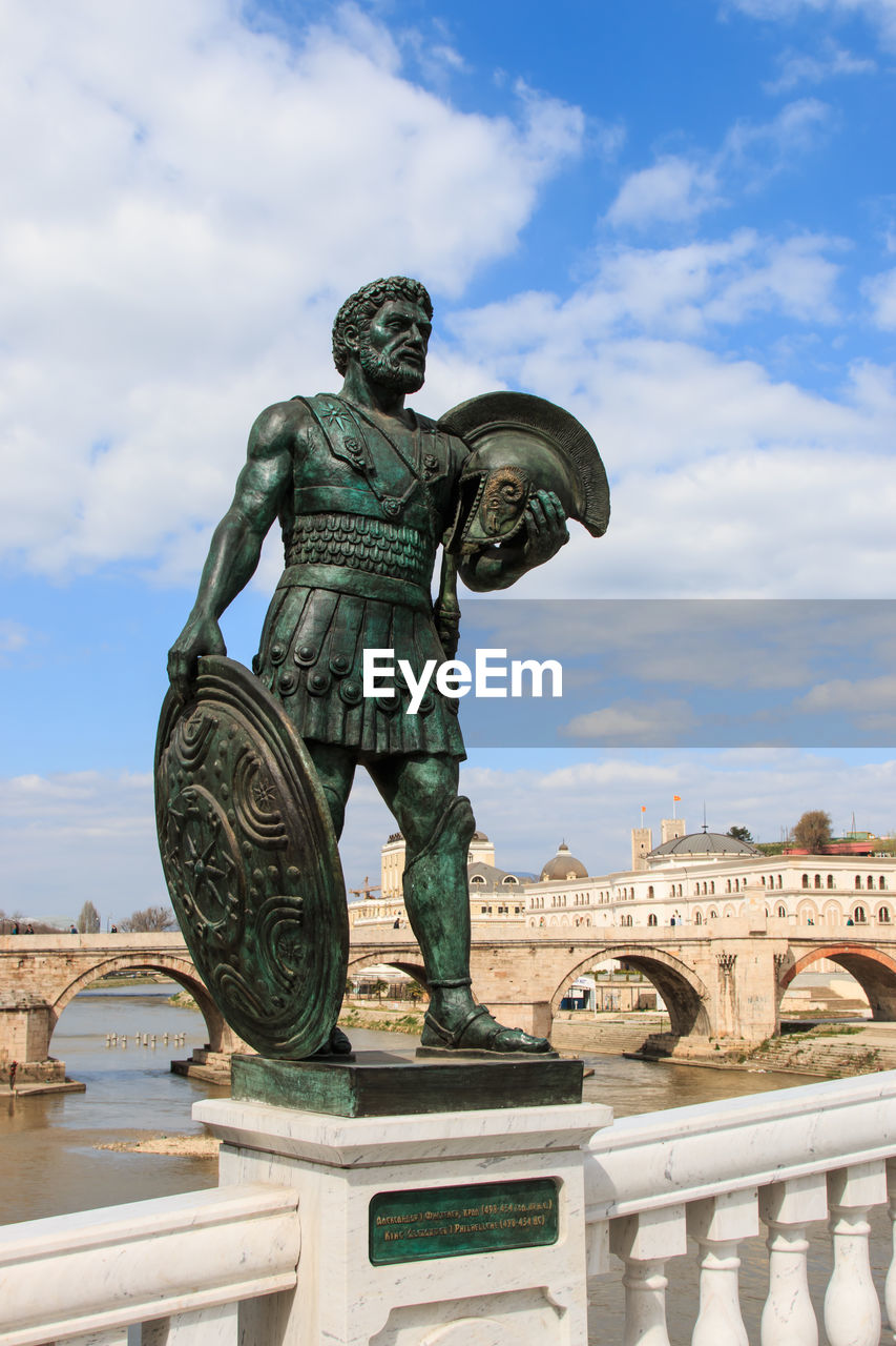 Sculpture of macedonian warrior
