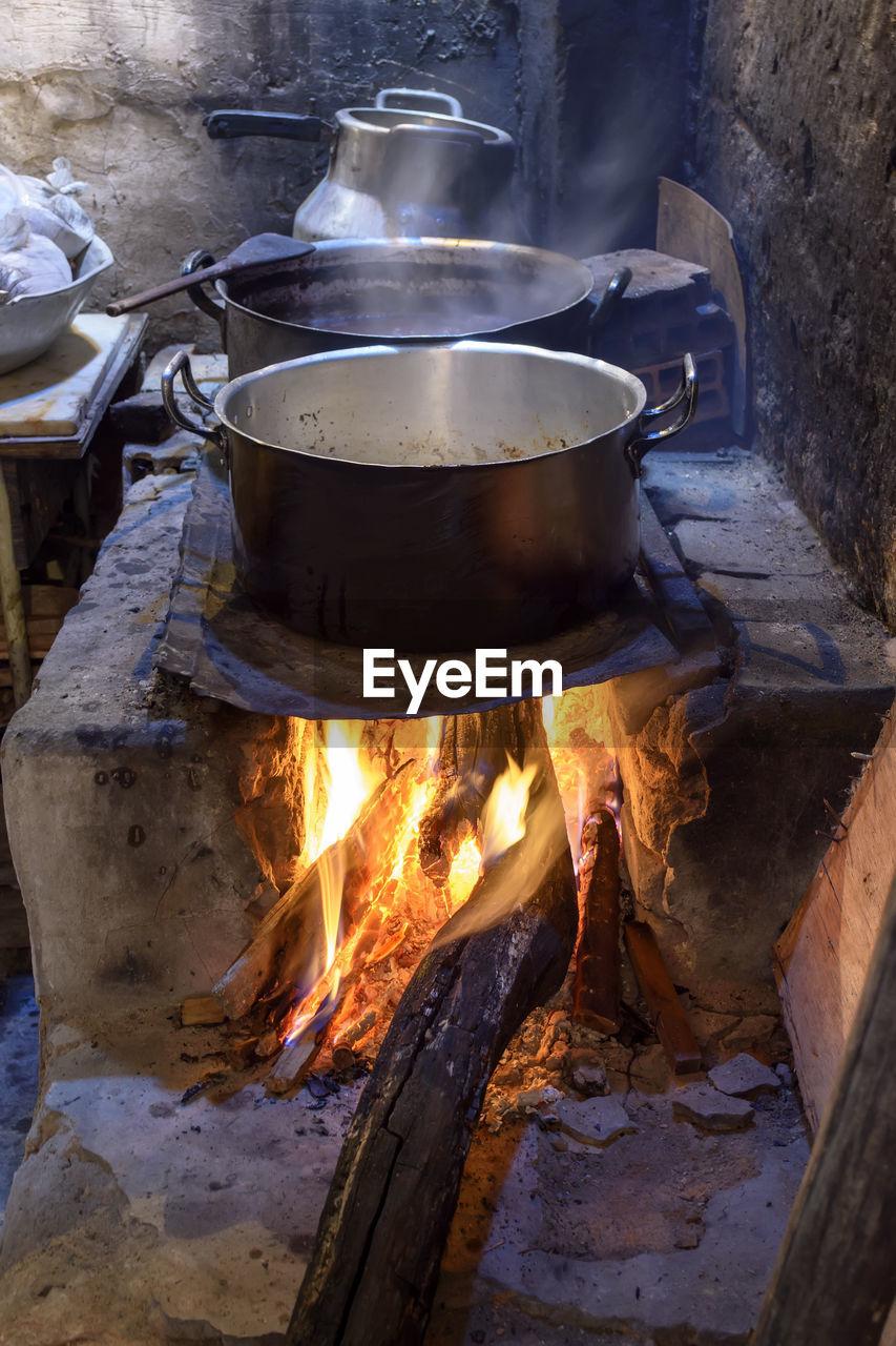 Food cooking indoors