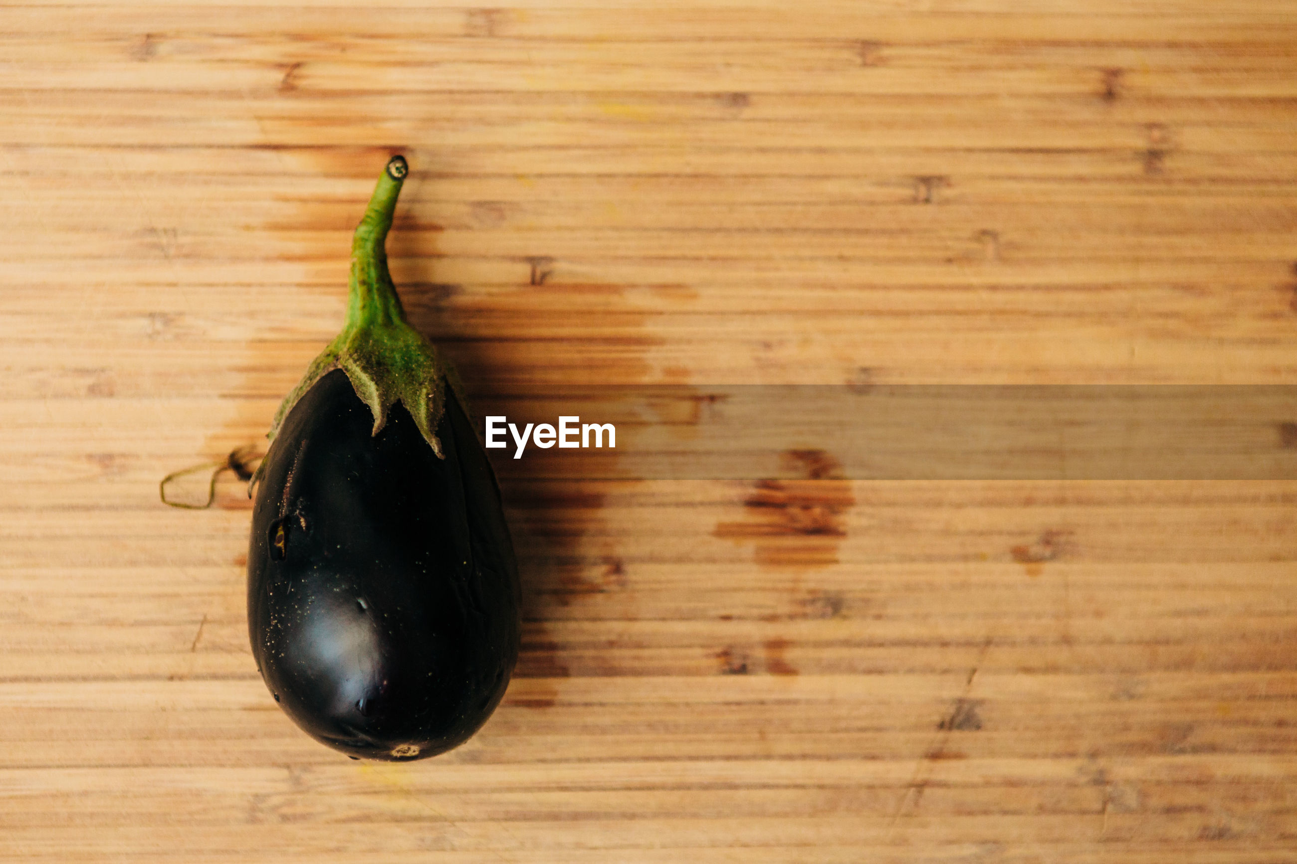 Directly above shot of eggplant on table