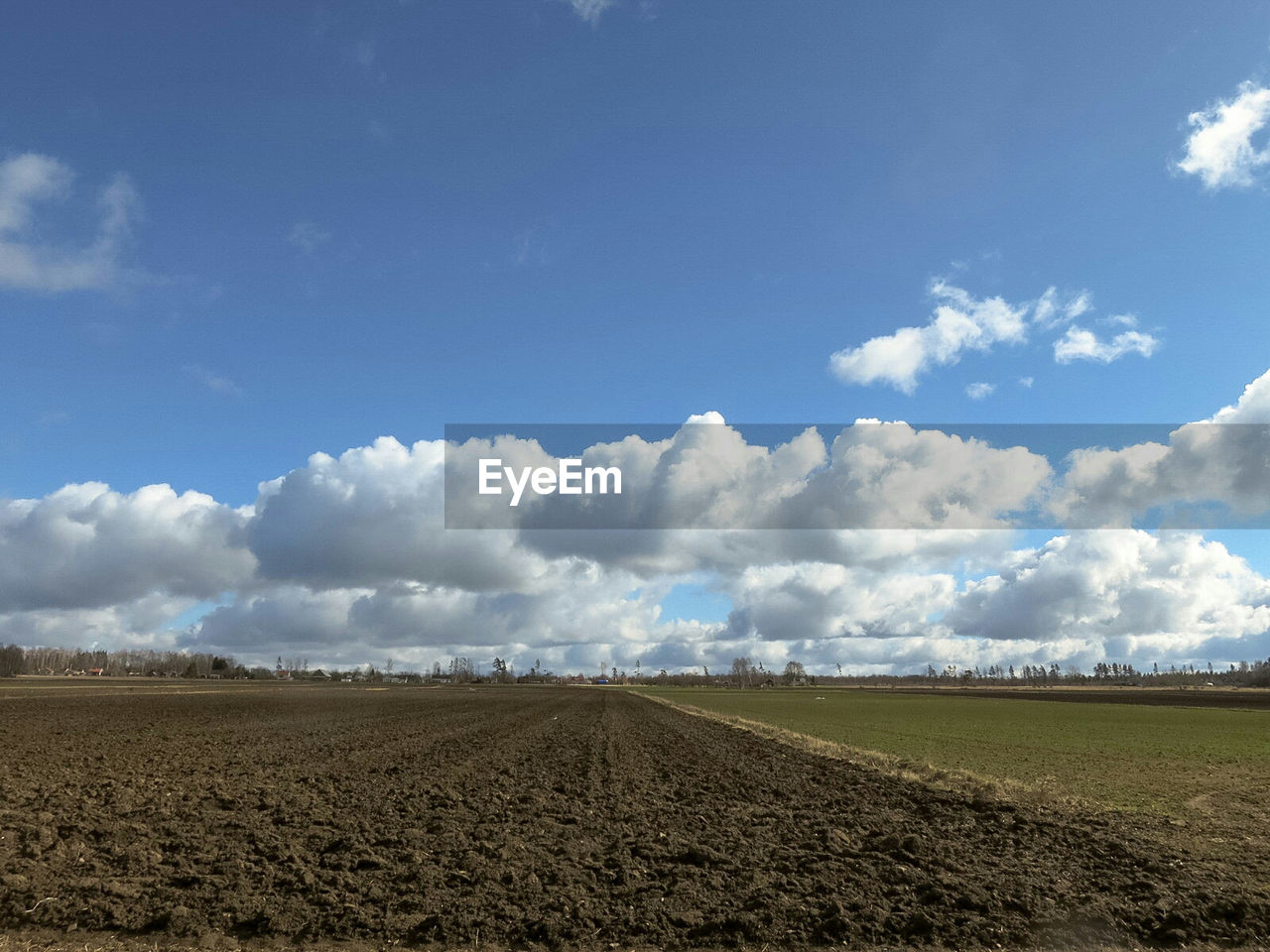 landscape, field, plough, agriculture, sky, day, tranquil scene, nature, tranquility, beauty in nature, cloud - sky, scenics, no people, rural scene, outdoors, blue, plowed field