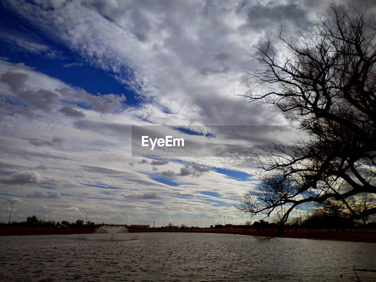 sky, cloud - sky, water, no people, tranquility, tranquil scene, tree, scenics, nature, lake, beauty in nature, outdoors, day
