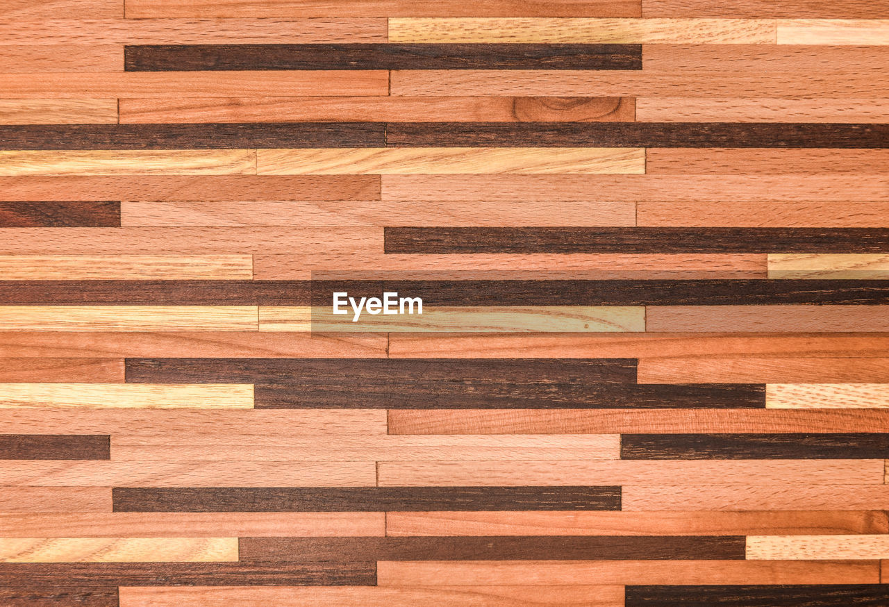 backgrounds, full frame, pattern, wood, wood - material, no people, indoors, design, brown, flooring, architecture, hardwood floor, in a row, built structure, wood grain, shape, modern, textured, large group of objects, plank