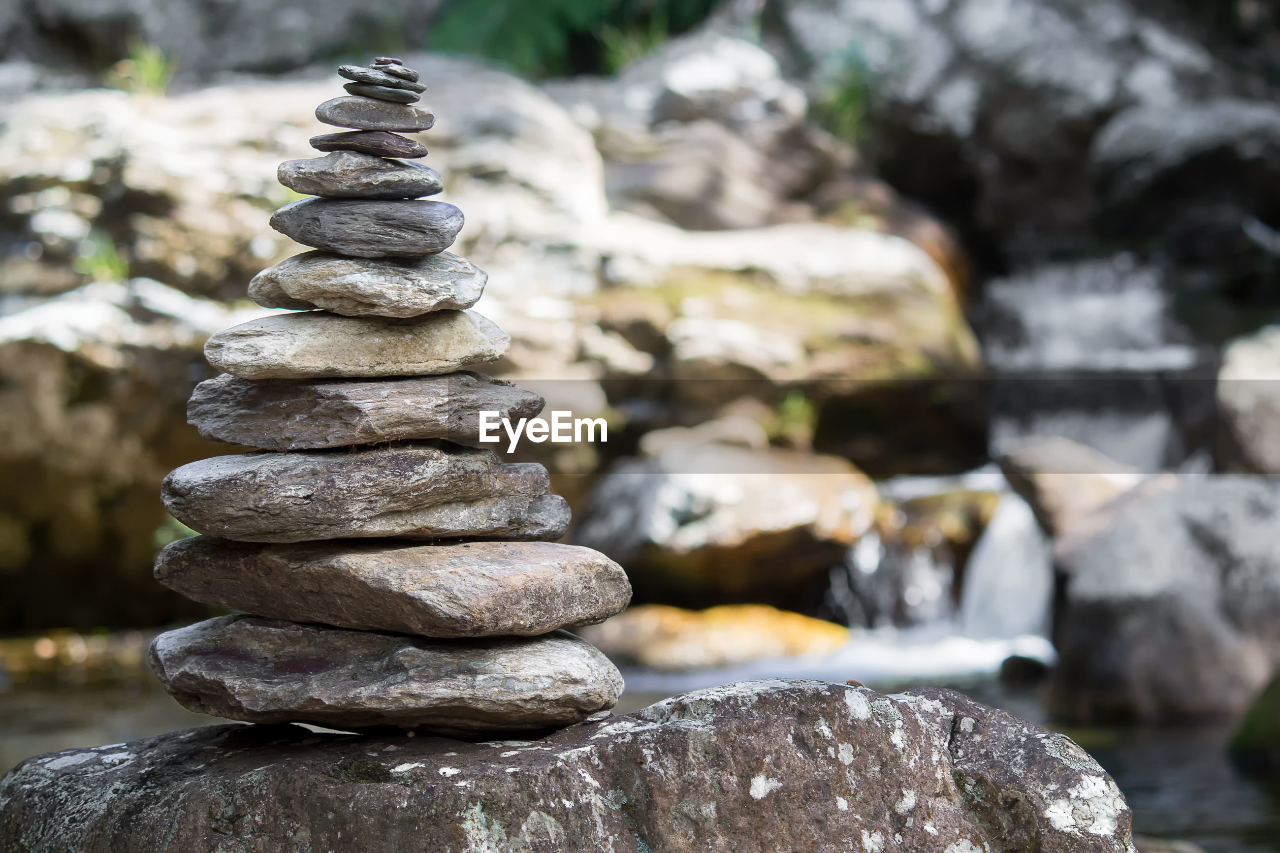 STACK OF STONES ON ROCKS