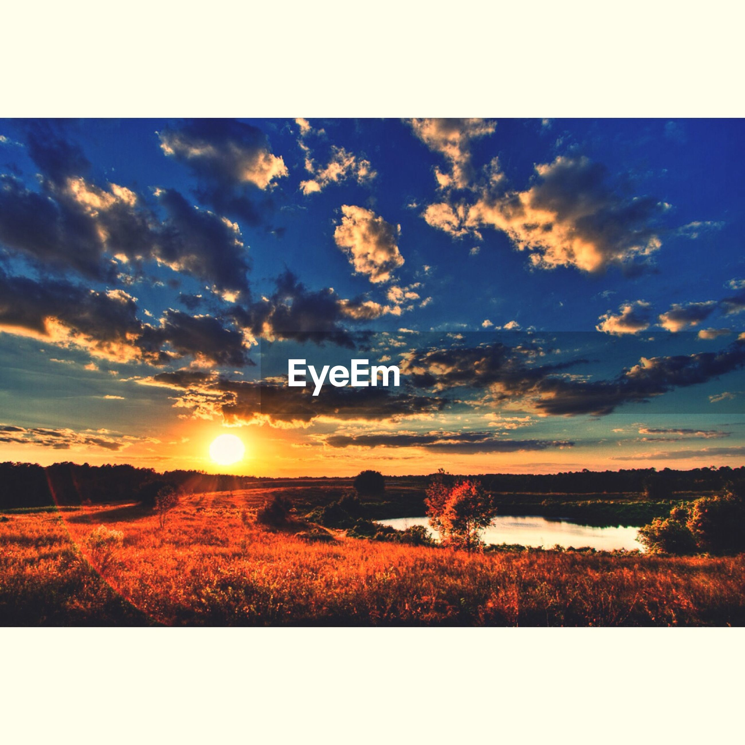sunset, sky, tranquil scene, scenics, tranquility, beauty in nature, sun, landscape, cloud - sky, nature, transfer print, field, cloud, idyllic, auto post production filter, sunlight, horizon over land, cloudy, rural scene, outdoors