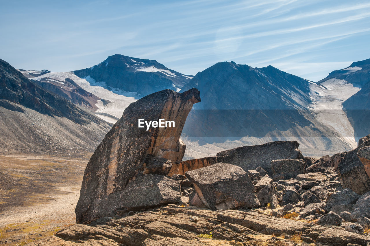 Scenic View Of Mountains In Greenland