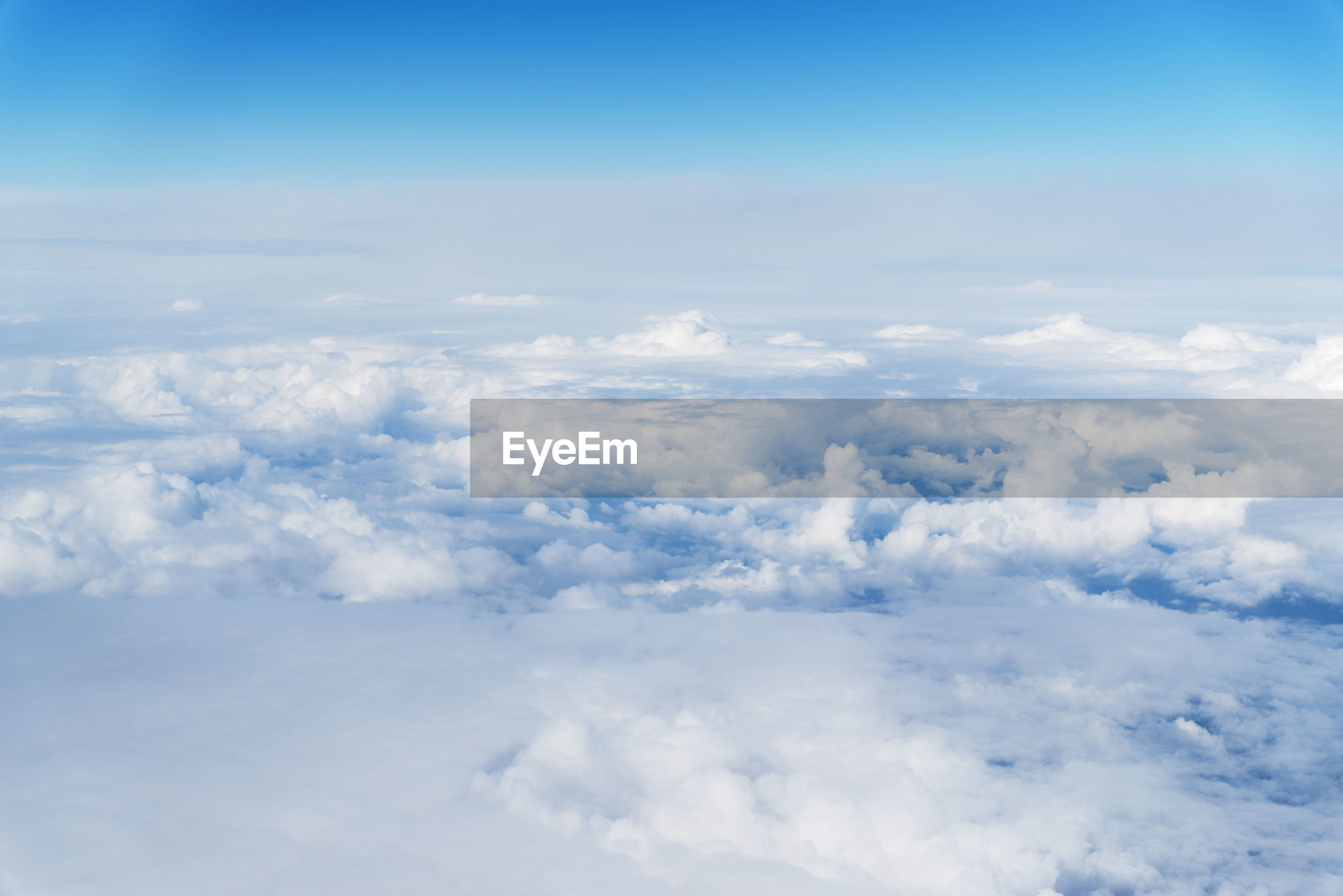 Dense clouds, view from aircraft