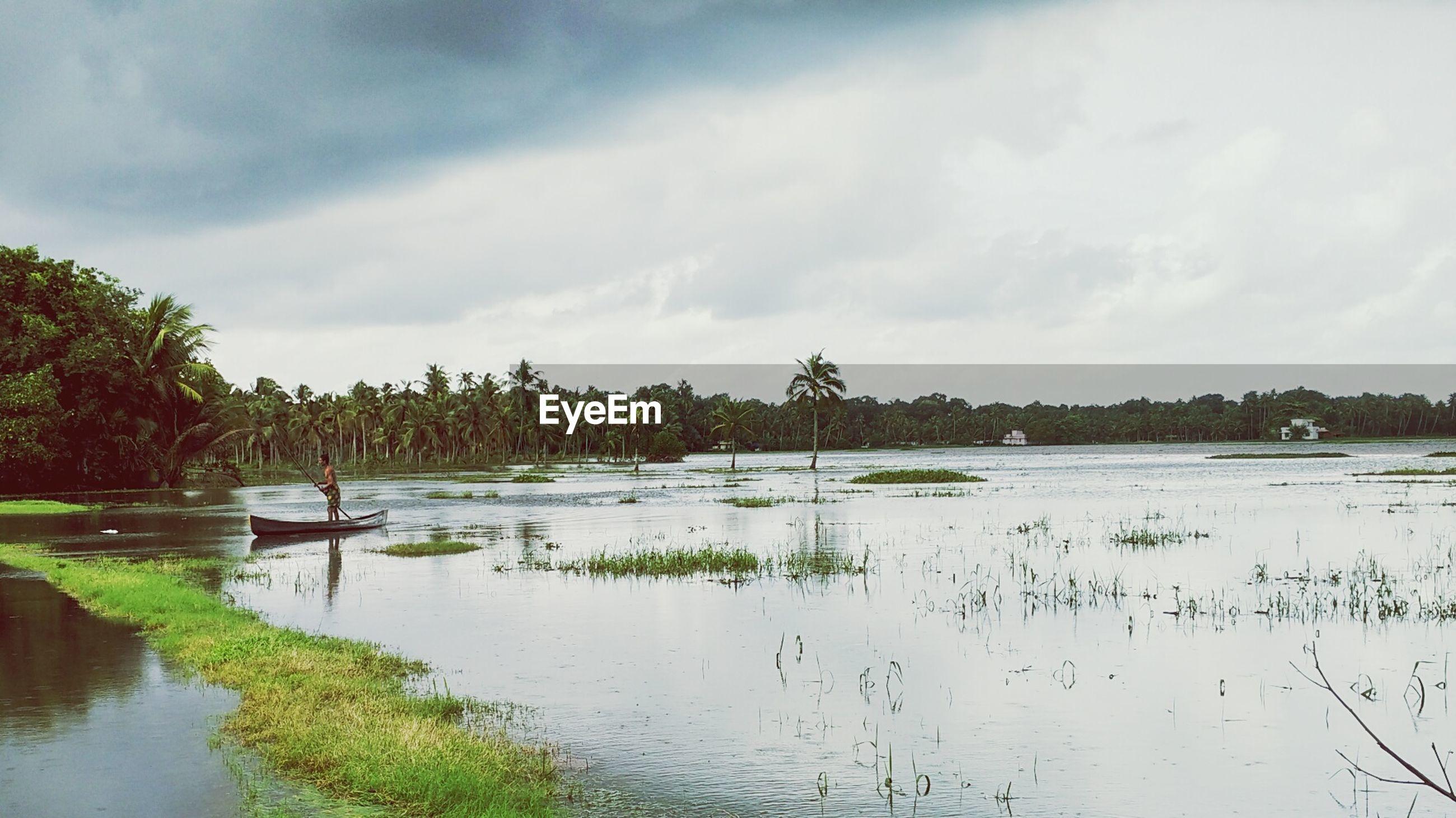 LAKE AGAINST SKY
