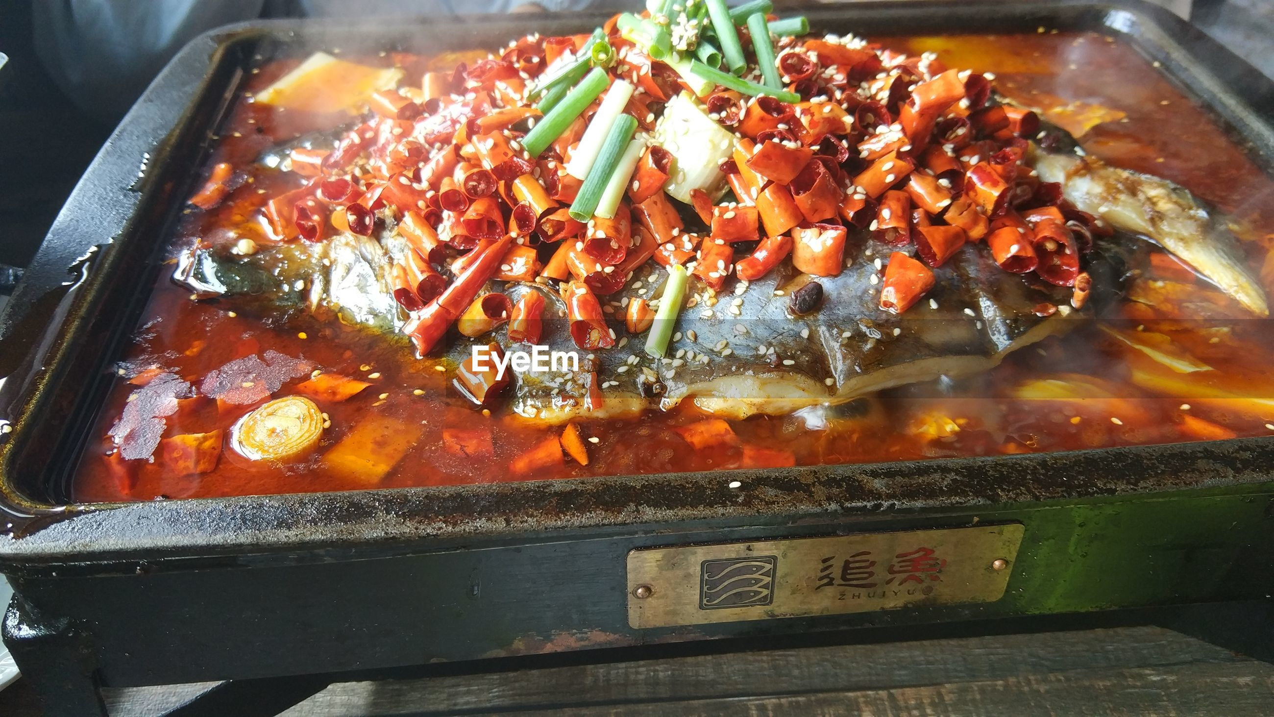 HIGH ANGLE VIEW OF VEGETABLES ON BARBECUE