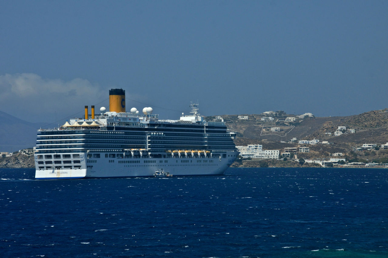 water, nautical vessel, sea, sky, transportation, mode of transportation, ship, cruise, nature, no people, copy space, cruise ship, day, blue, travel, outdoors, waterfront, craft, passenger craft, luxury, yacht