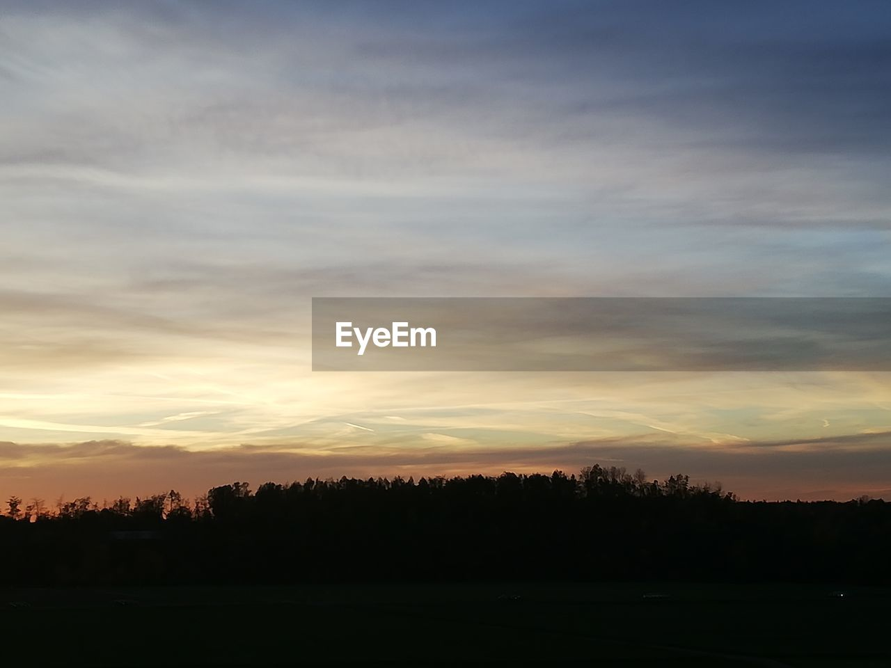 sunset, sky, cloud - sky, beauty in nature, tranquility, silhouette, scenics - nature, tranquil scene, tree, environment, landscape, no people, plant, orange color, non-urban scene, nature, idyllic, outdoors, field, land