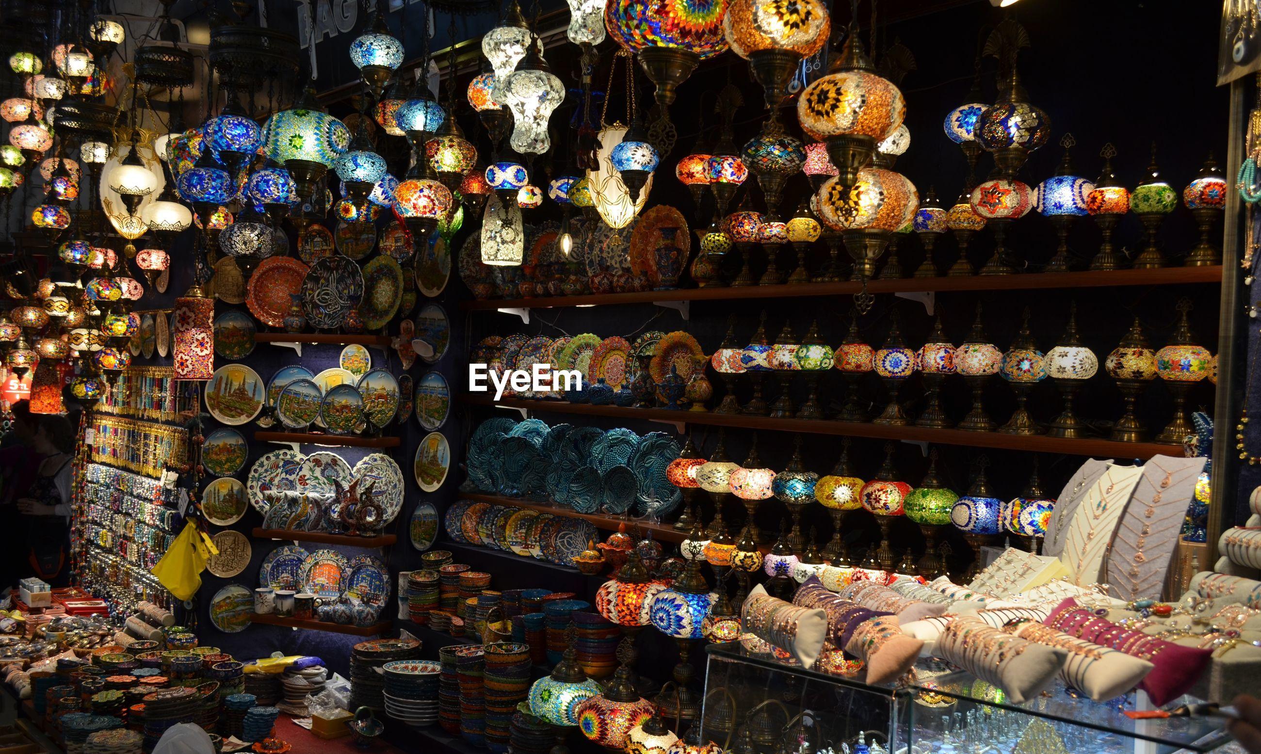 Ceramics for sale in store