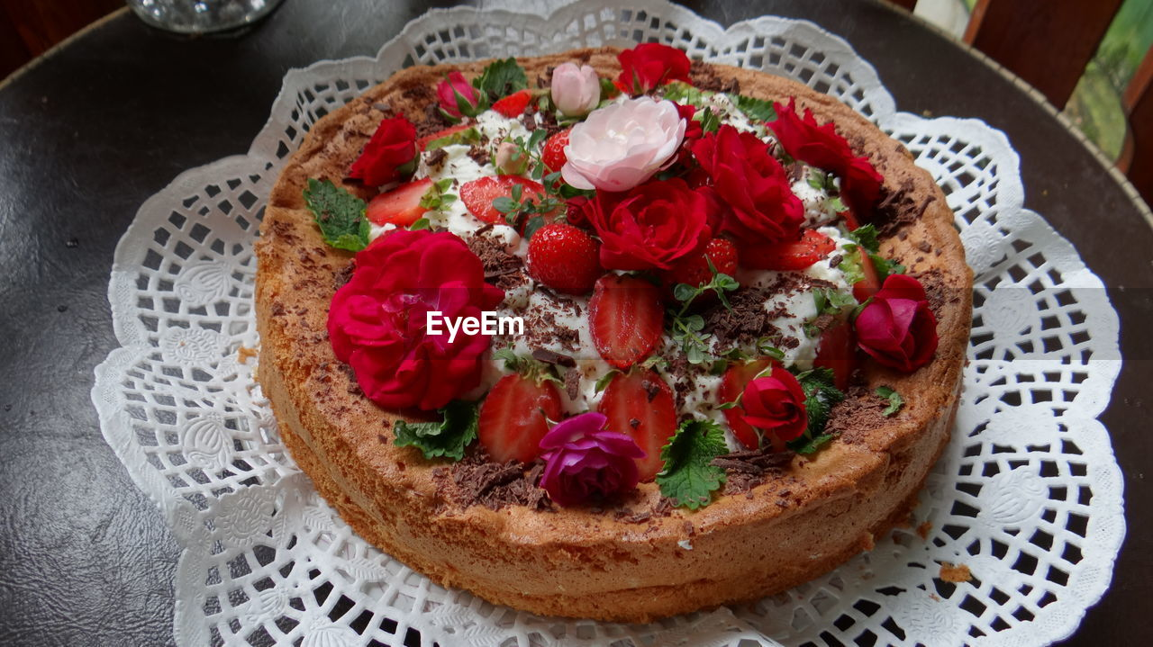 freshness, food, food and drink, bread, ready-to-eat, healthy eating, close-up, fruit, plate, tomato, indoors, wellbeing, table, vegetable, no people, flower, high angle view, meal, flowering plant, plant, herb, garnish, breakfast