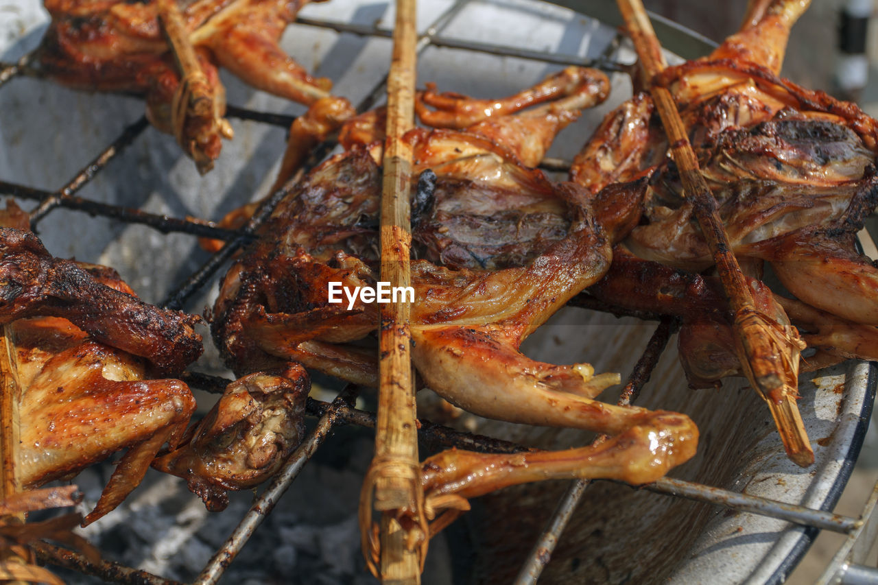 Close-Up Of Grilled Meat