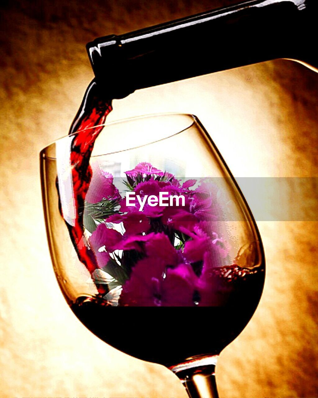 flower, petal, wineglass, nature, freshness, purple, close-up, alcohol, no people, beauty in nature, fragility, flower head, drink, indoors, day