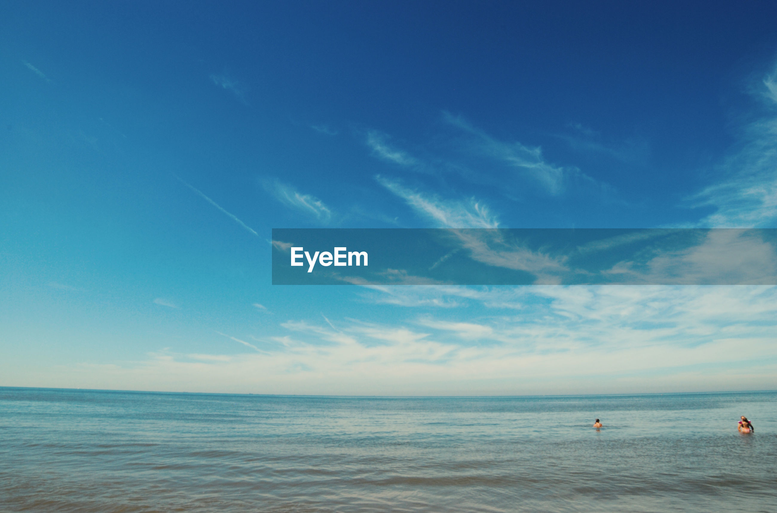 View of calm blue sea against sky