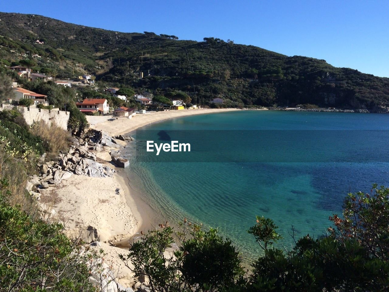 High Angle View Of Calm Sea