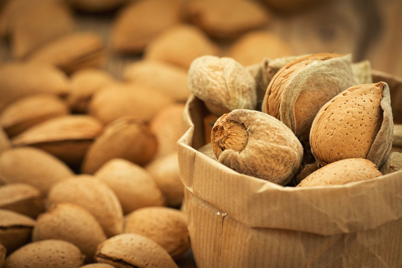 food, food and drink, large group of objects, still life, freshness, nut, wellbeing, container, healthy eating, abundance, nut - food, close-up, brown, no people, selective focus, basket, indoors, for sale, retail, nutshell