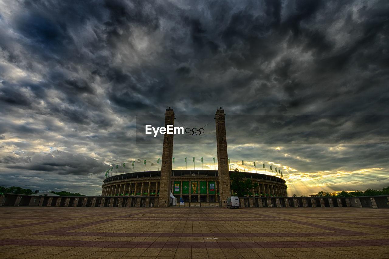 cloud - sky, sky, built structure, architecture, spirituality, travel destinations, storm cloud, no people, religion, building exterior, outdoors, day