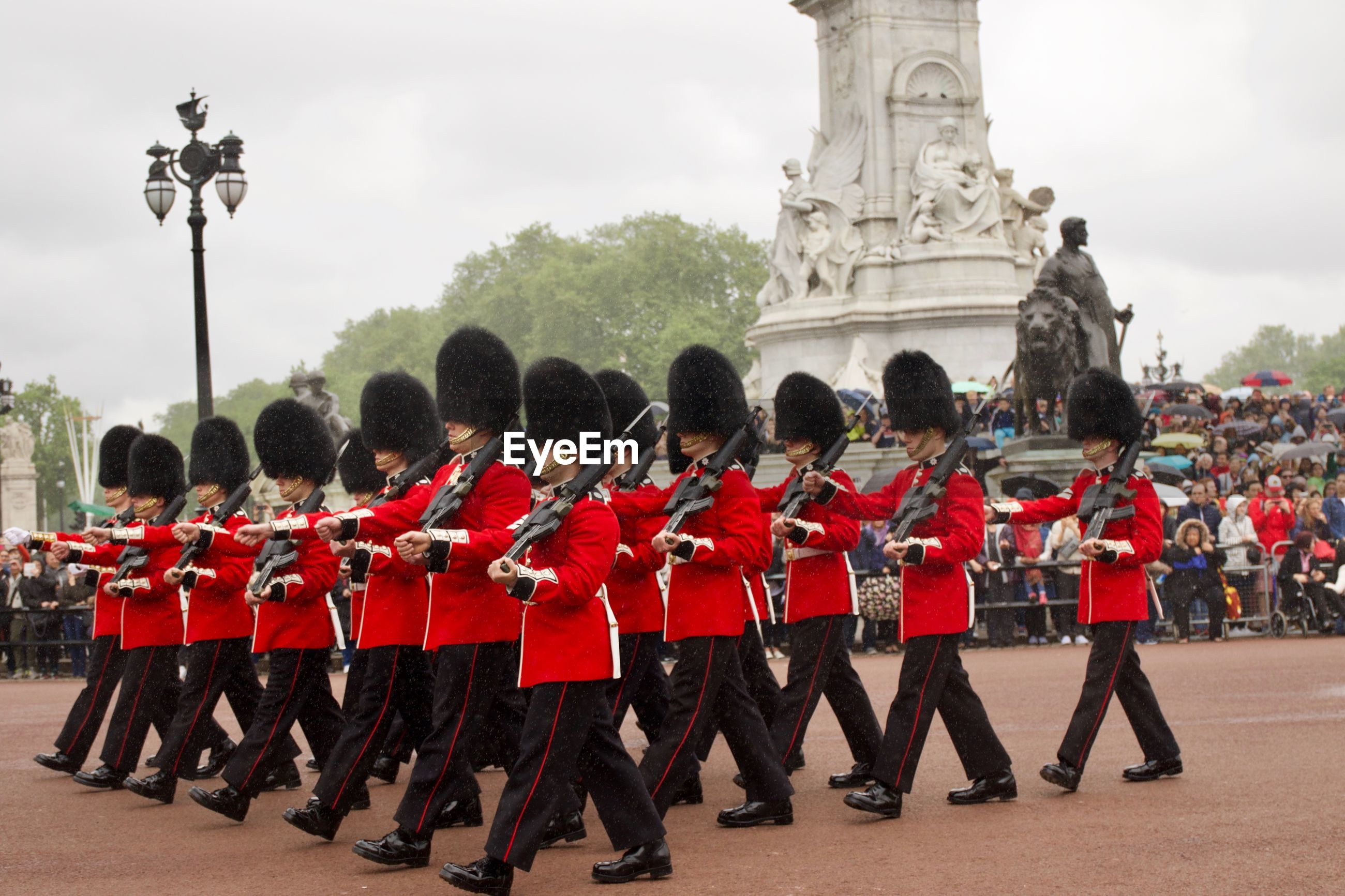 Military parade at buckingham palace