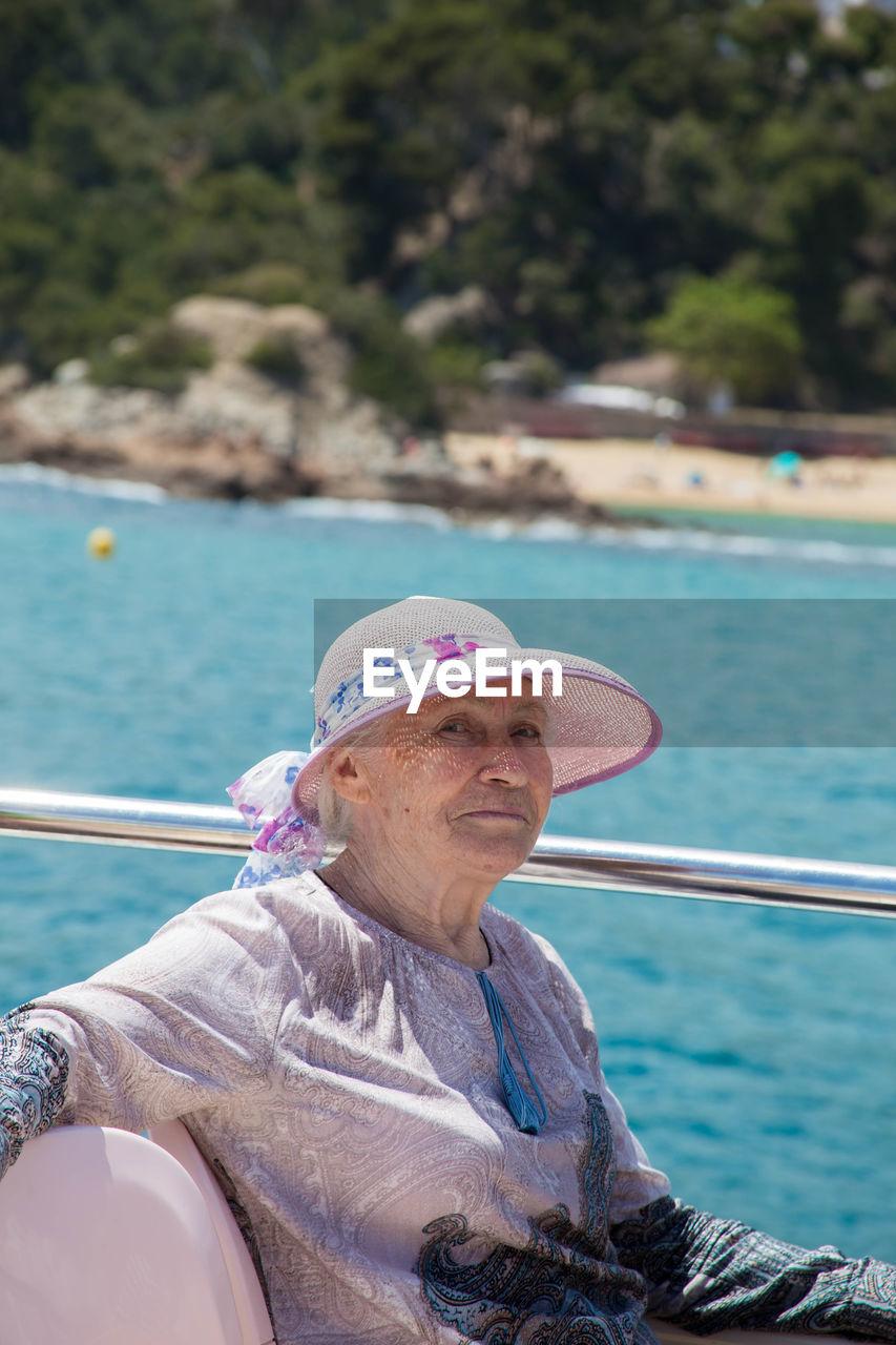 Senior Woman During Cruise