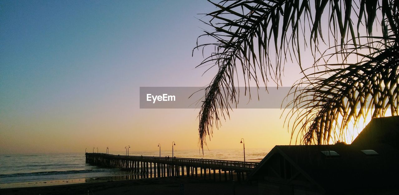 sea, sunset, water, scenics, horizon over water, nature, silhouette, beauty in nature, sky, outdoors, beach, no people, tranquil scene, tranquility, clear sky, tree, built structure, architecture, day