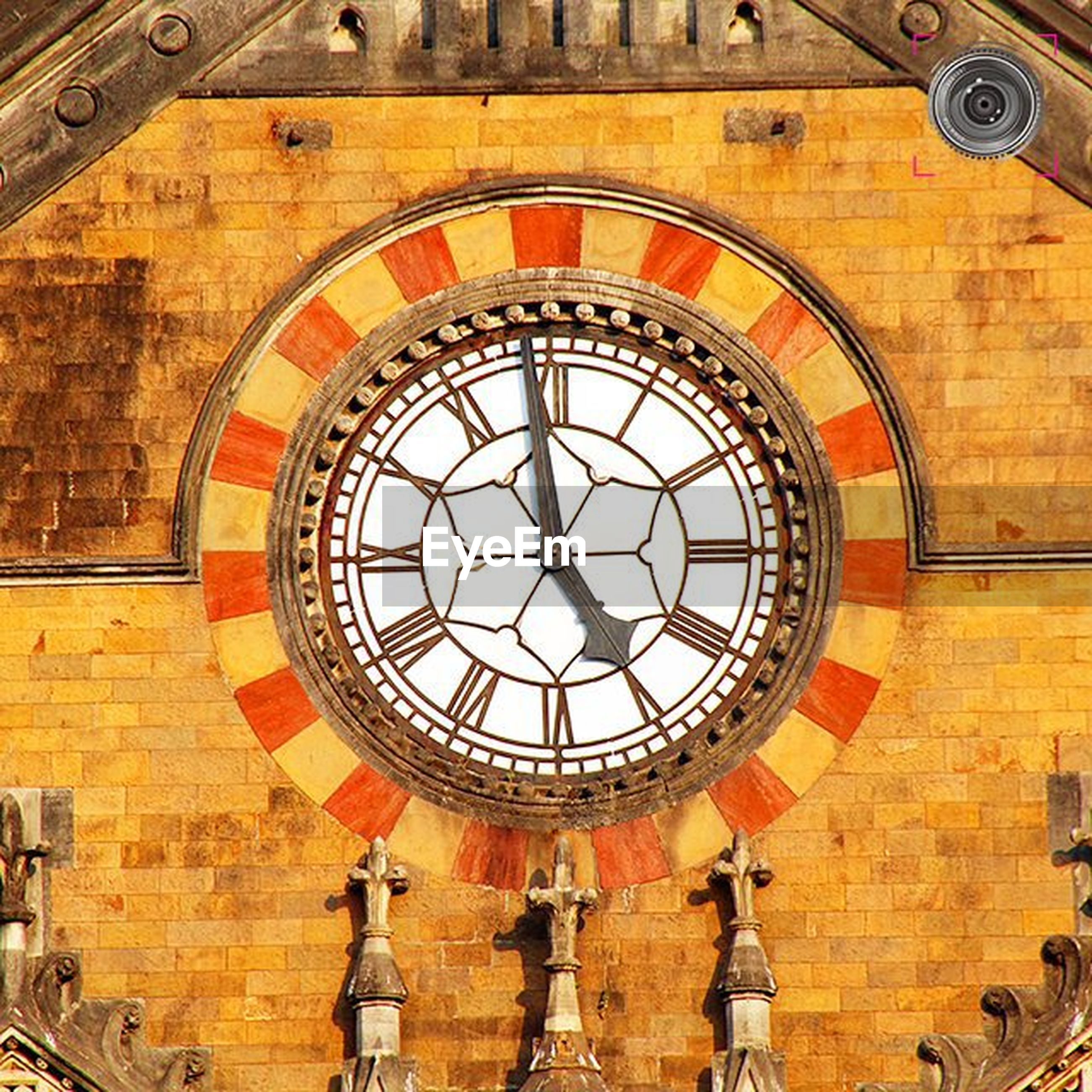 indoors, clock, time, circle, low angle view, architecture, built structure, clock face, ceiling, directly below, roman numeral, design, pattern, geometric shape, church, religion, ornate, minute hand, no people