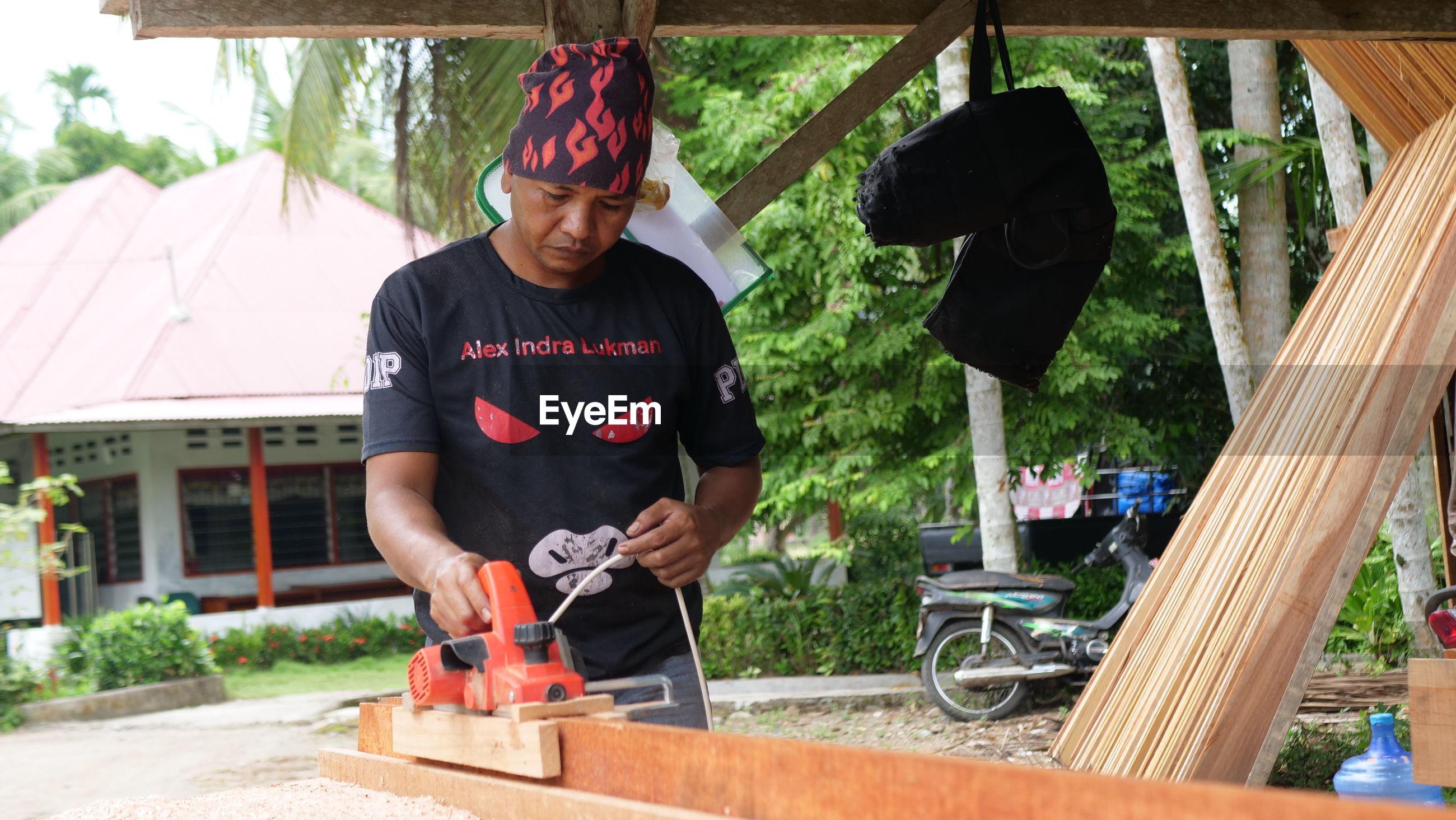 Full length of man working