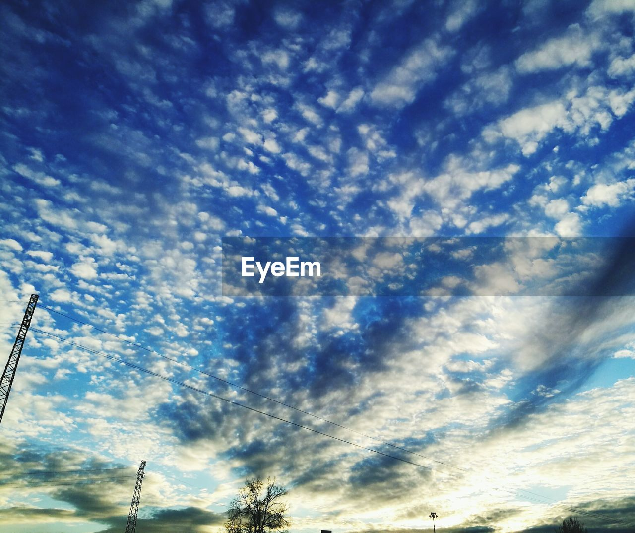 low angle view, sky, cloud - sky, beauty in nature, nature, no people, scenics, tranquility, blue, day, outdoors, tree