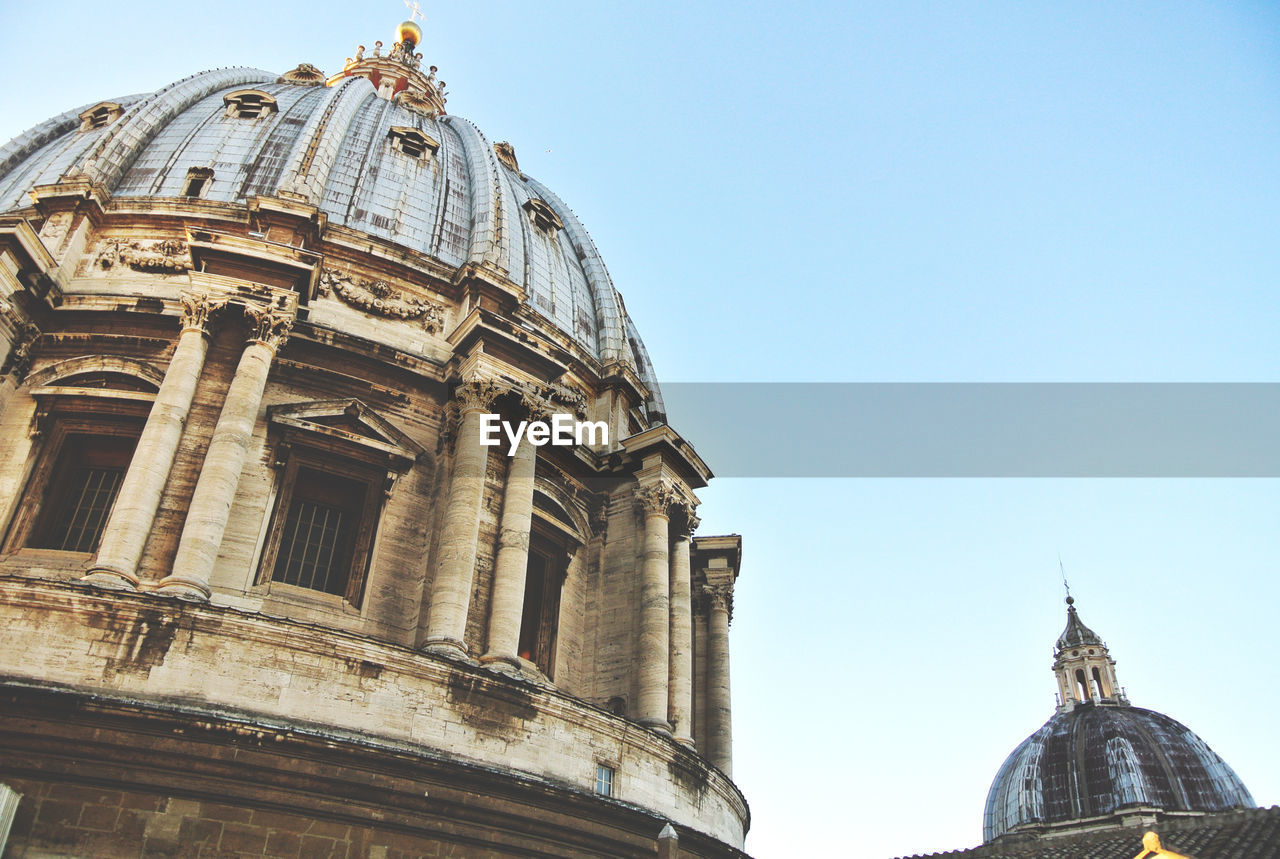 Low Angle View Of St Peter Basilica Against Clear Sky