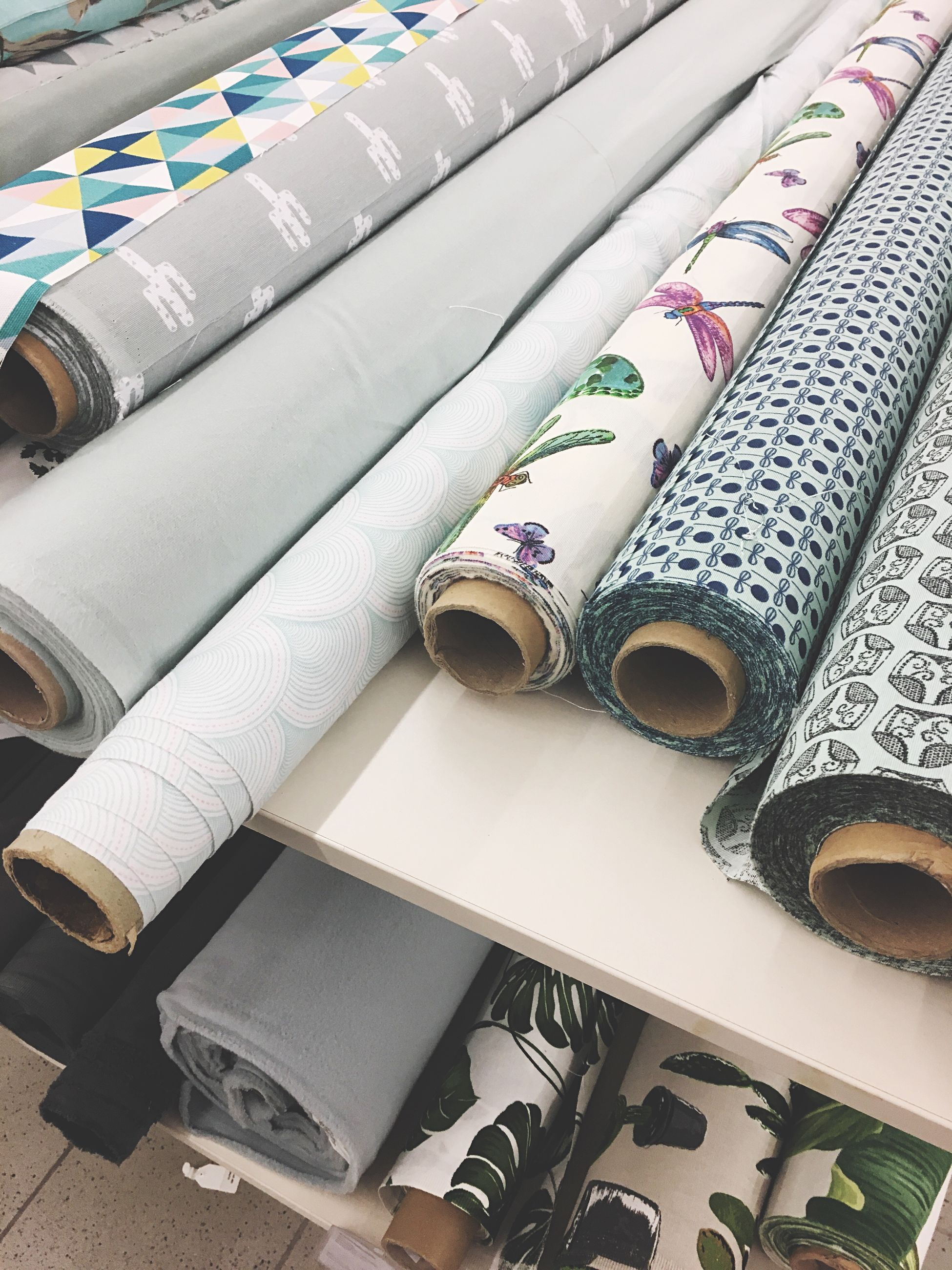 Close-up of fabric for sale in store
