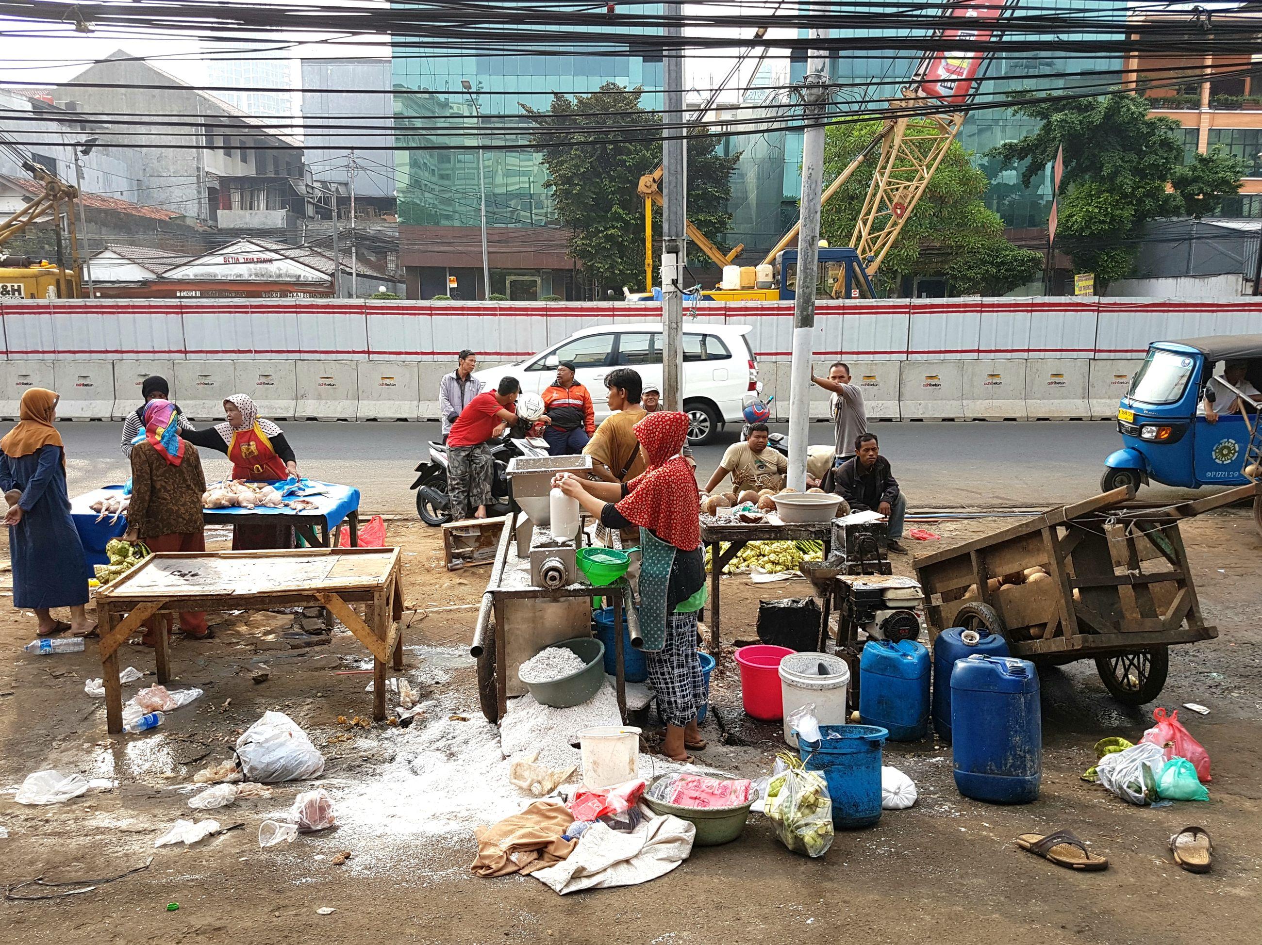 PEOPLE WORKING IN STADIUM