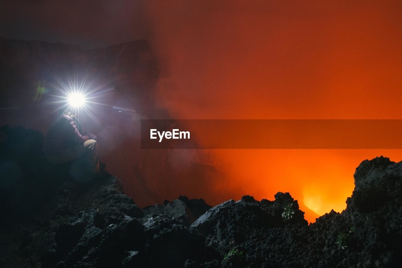Person At Volcanic Landscape