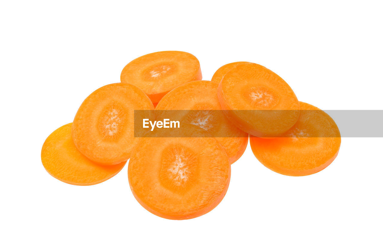 orange color, studio shot, white background, food and drink, food, healthy eating, wellbeing, still life, fruit, freshness, citrus fruit, indoors, orange, cut out, orange - fruit, close-up, slice, group of objects, no people, copy space, snack