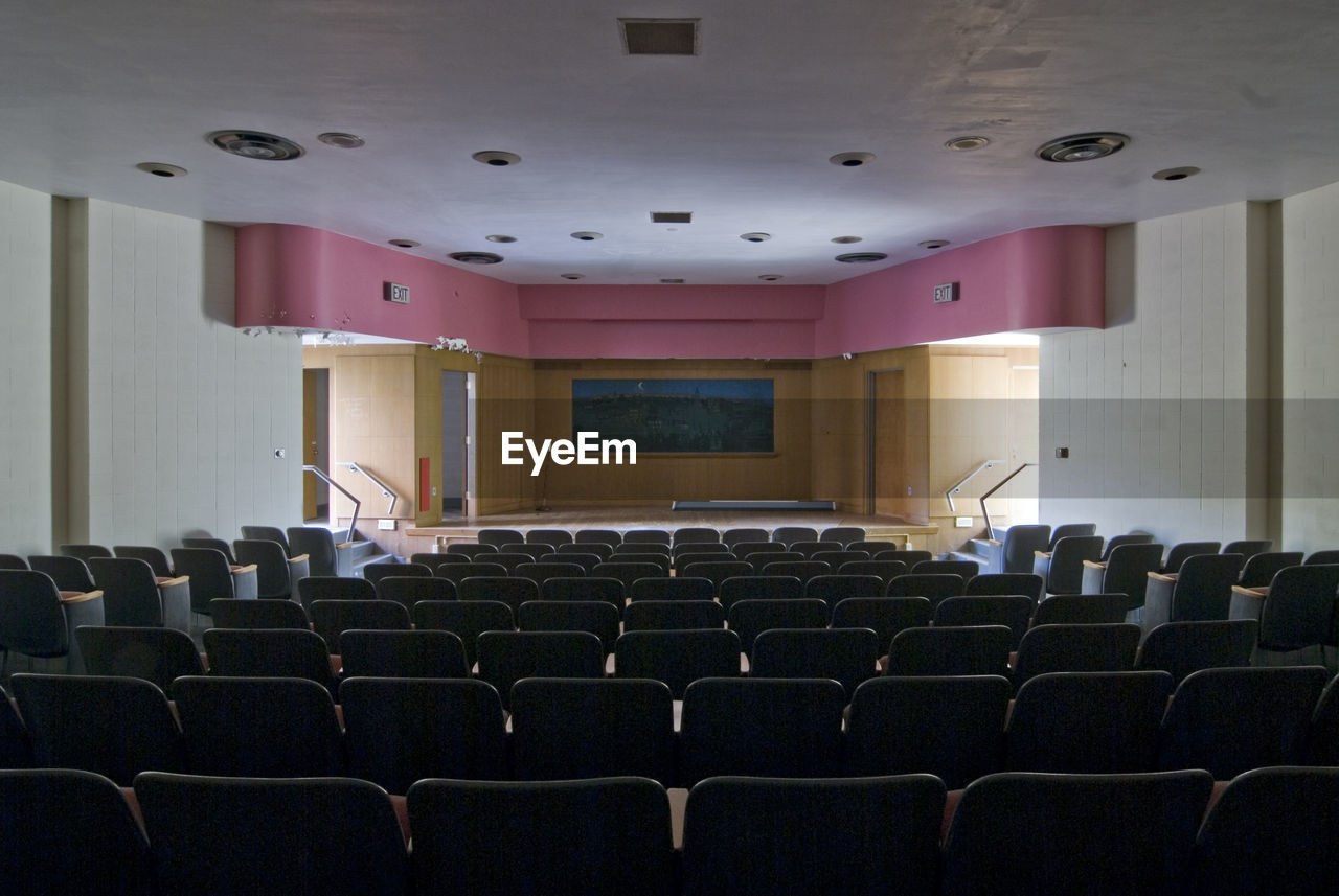 View of empty seats in room