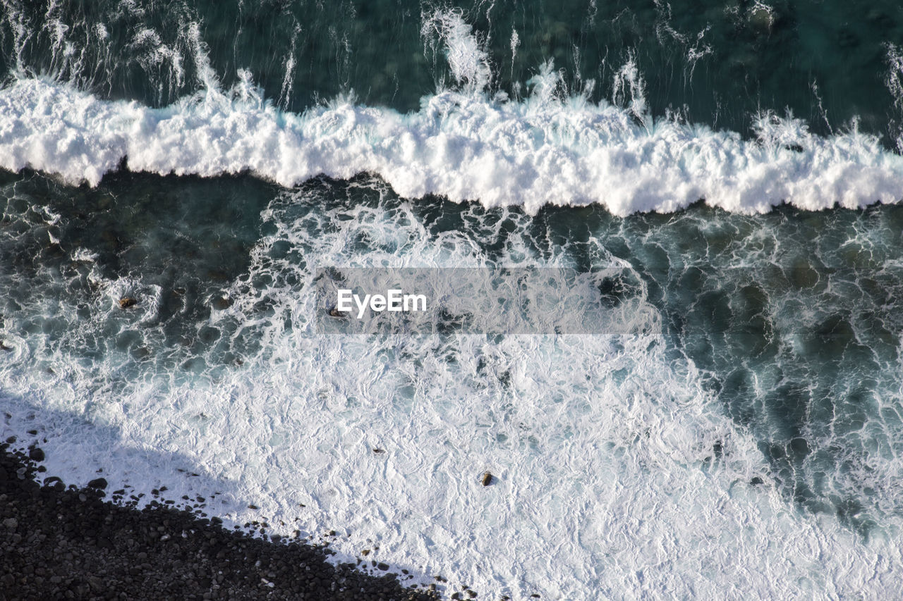 motion, wave, no people, high angle view, water, nature, day, sea, beauty in nature, outdoors, power in nature, close-up