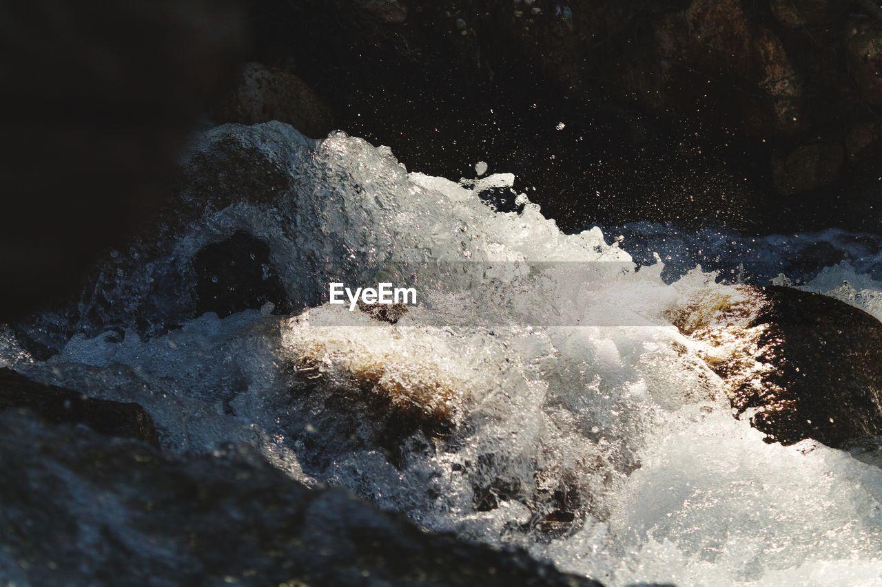 Dissolving Water UnderSea Close-up