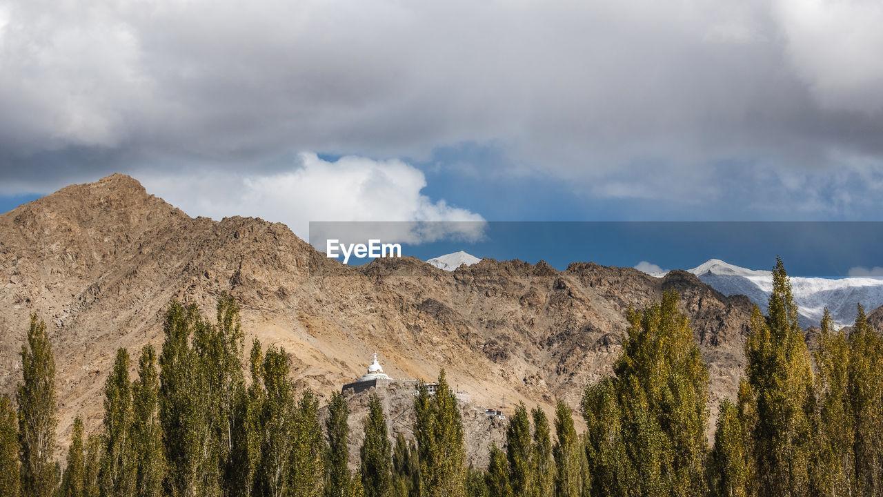 cloud - sky, sky, mountain, scenics - nature, beauty in nature, tranquil scene, nature, mountain range, non-urban scene, tranquility, day, plant, environment, no people, landscape, tree, land, outdoors, idyllic