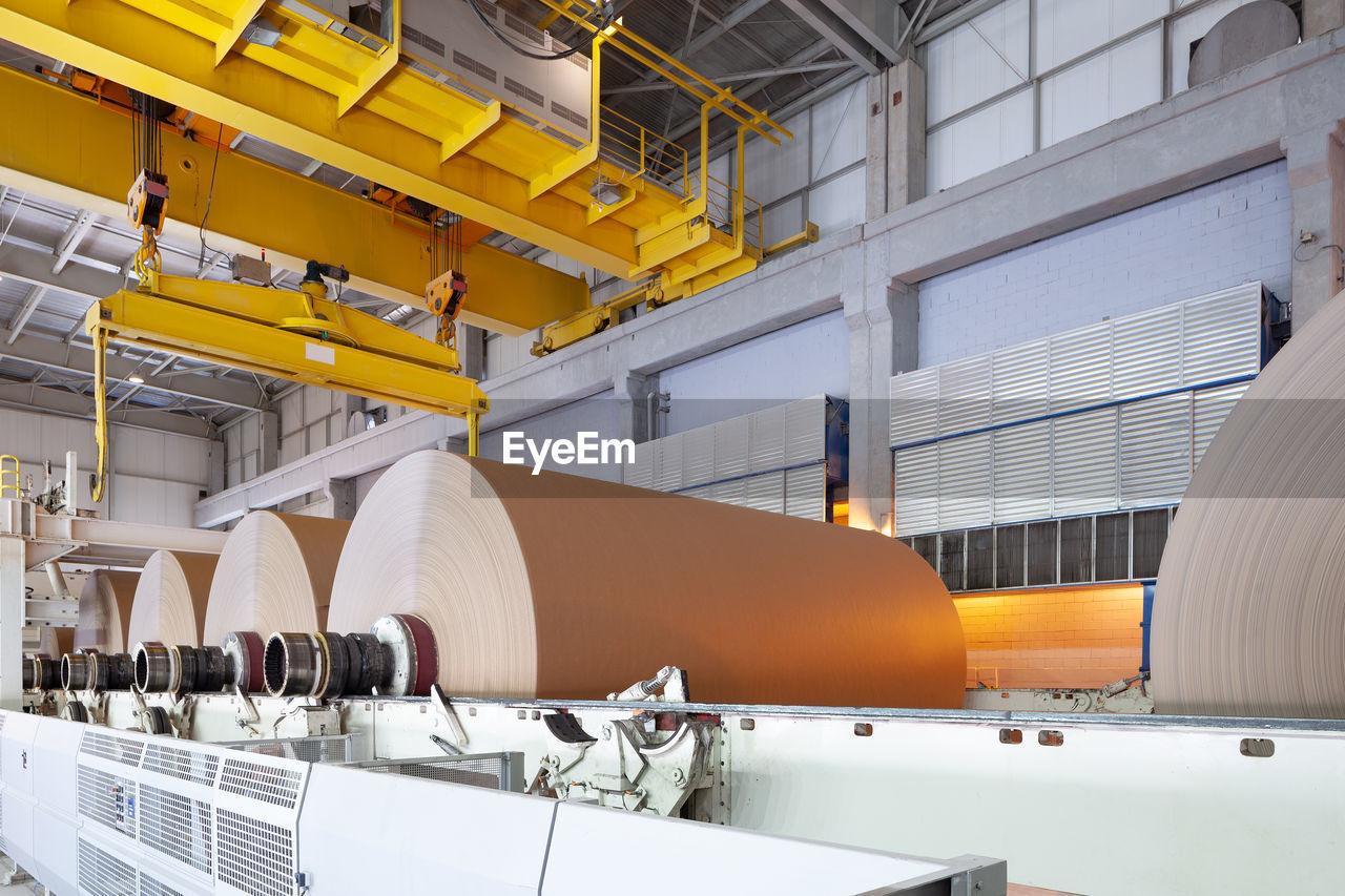 Interior of empty factory
