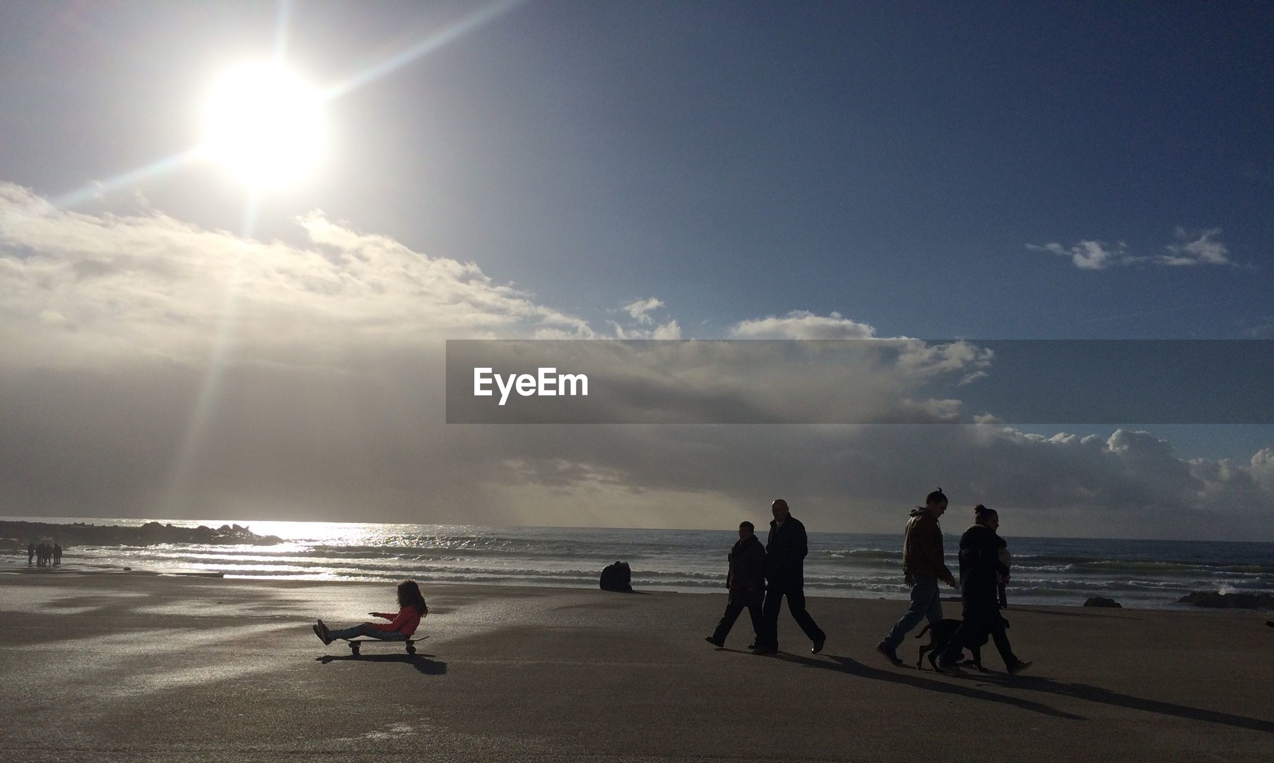 People enjoying at beach