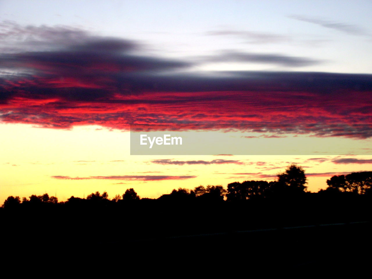 sunset, silhouette, beauty in nature, sky, scenics, nature, orange color, tranquil scene, cloud - sky, tranquility, majestic, dramatic sky, no people, tree, landscape, outdoors, awe, scenery