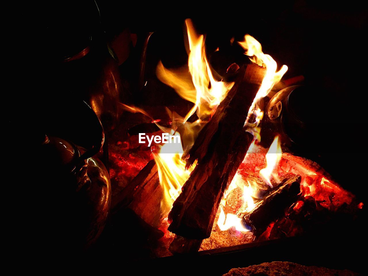 burning, flame, heat - temperature, glowing, orange color, no people, night, bonfire, wood - material, motion, outdoors, close-up, nature