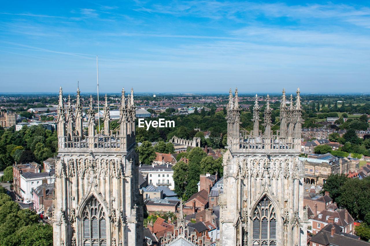 York Minster Against Blue Sky